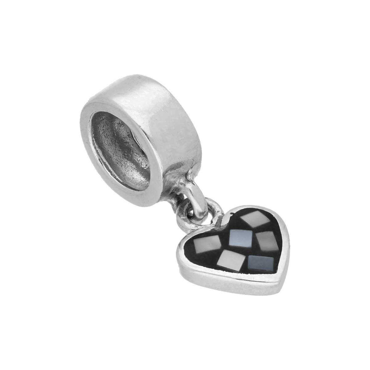 Sterling Silver Hanging Heart Bead Charm