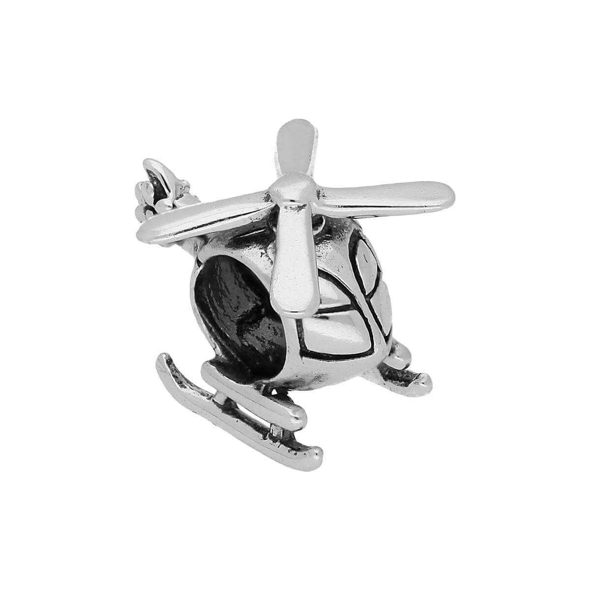 Sterling Silver Helicopter Bead Charm