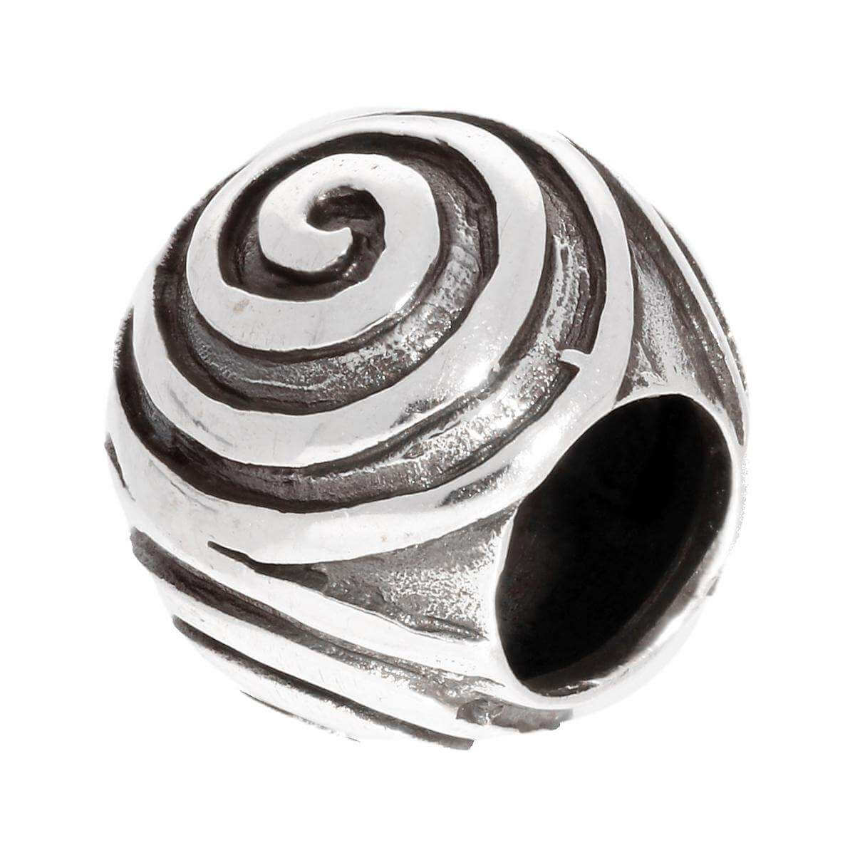 Sterling Silver Swirl Bead Charm
