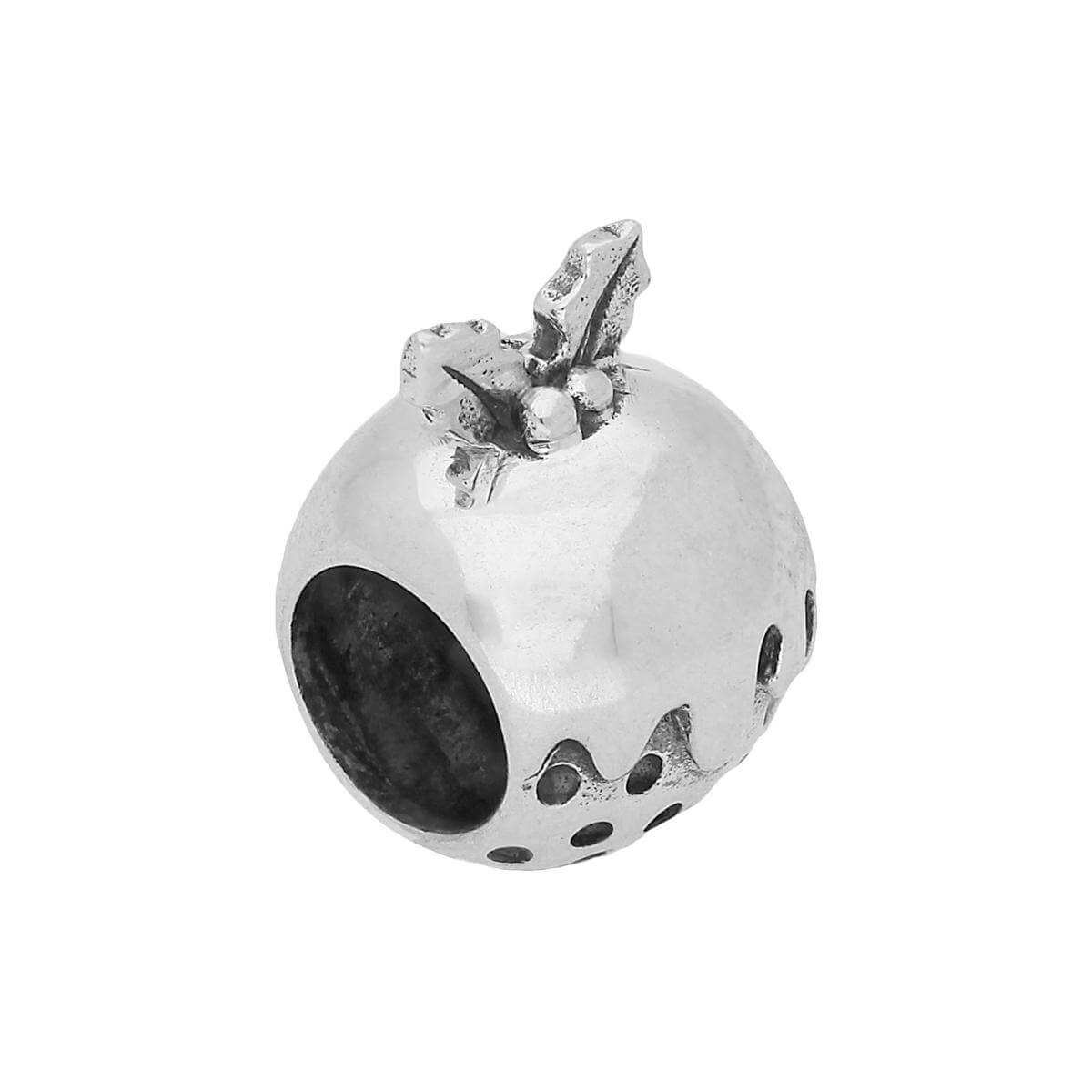 Sterling Silver Christmas Pudding Bead Charm