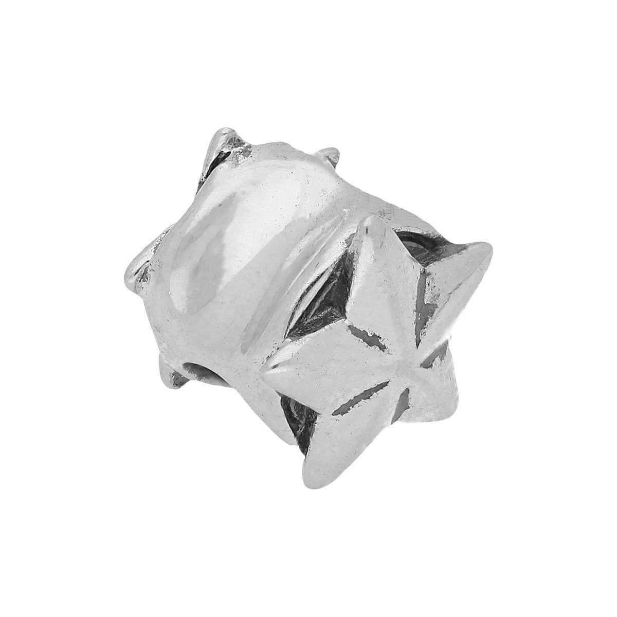 Sterling Silver Star Puffed Bead Charm