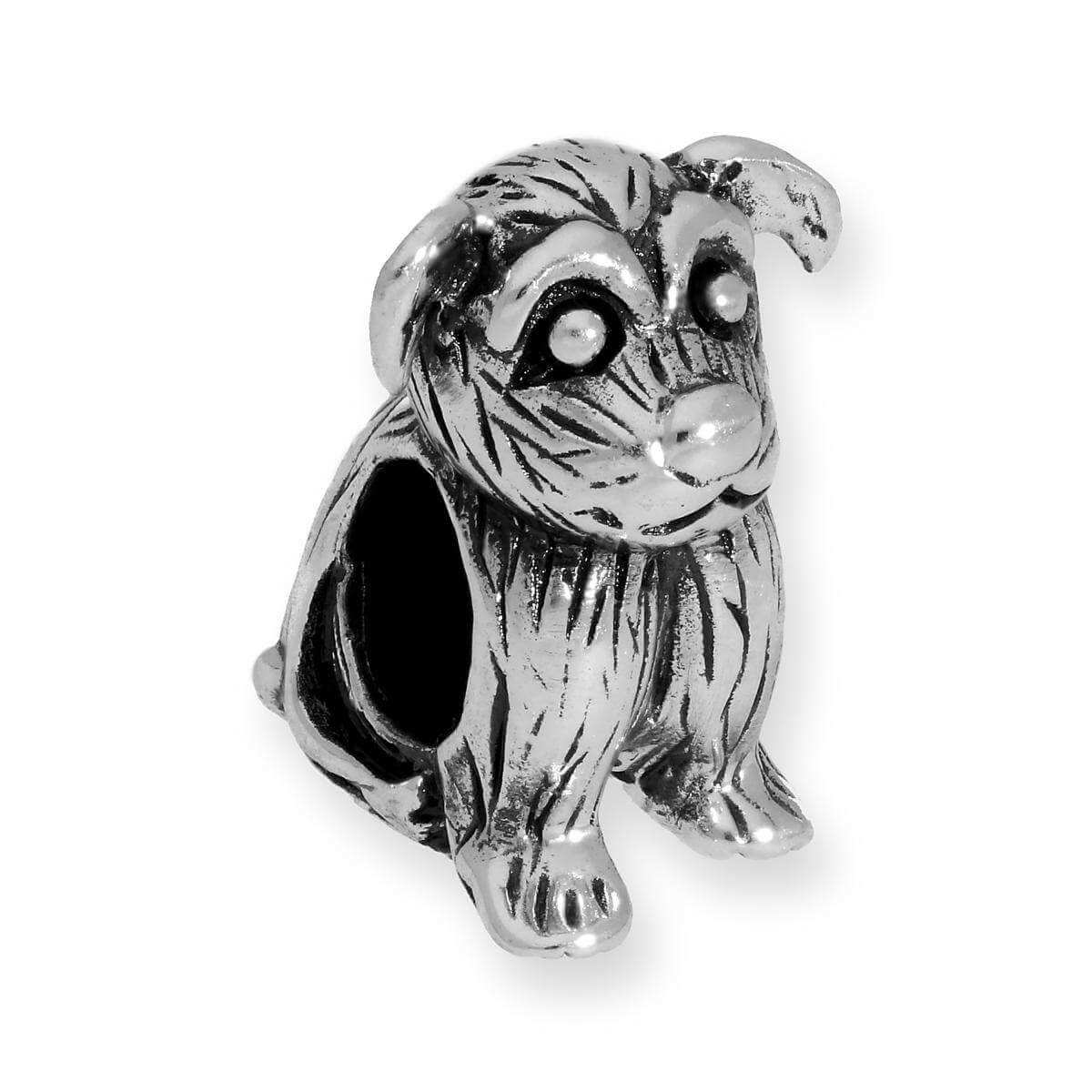 Sterling Silver Dog Bead Charm