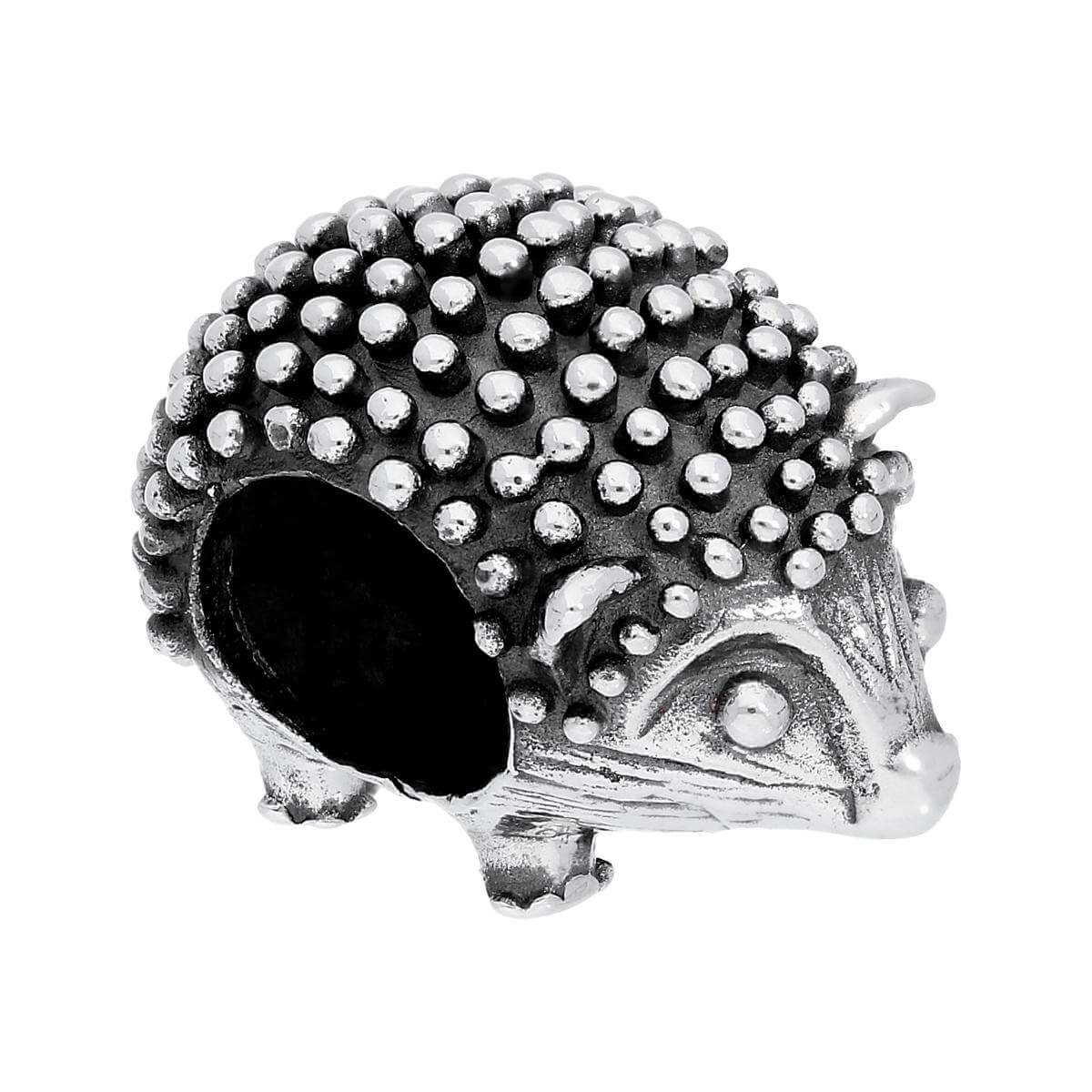 Sterling Silver Hedgehog Bead Charm