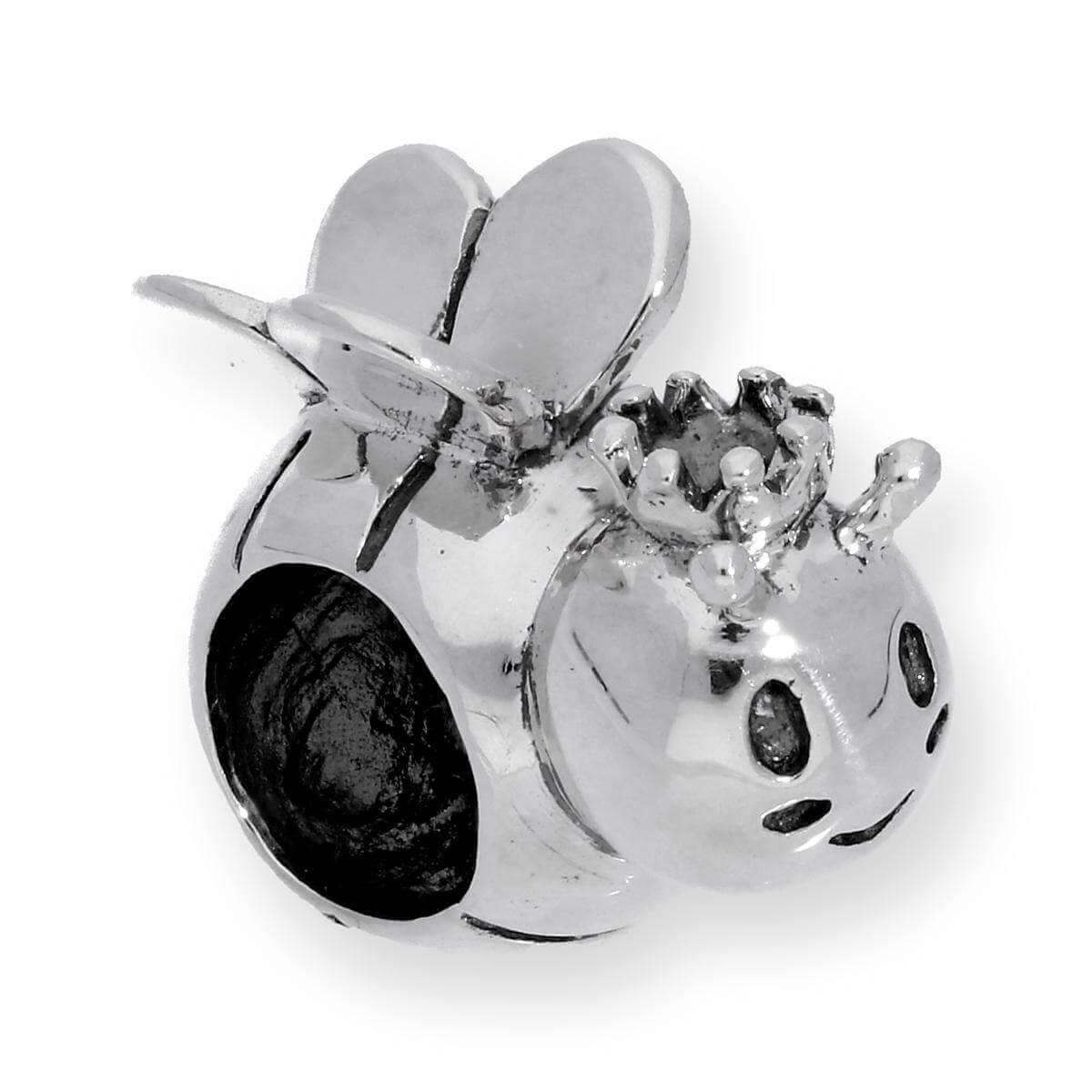Sterling Silver King Bee Bead Charm