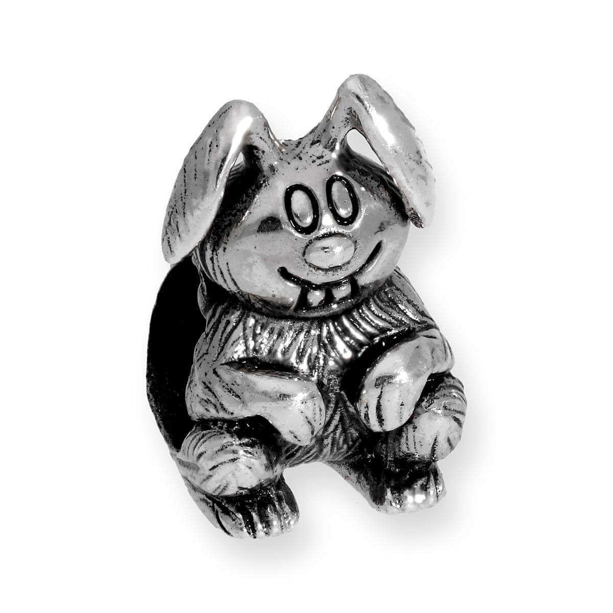 Sterling Silver Hare Bead Charm