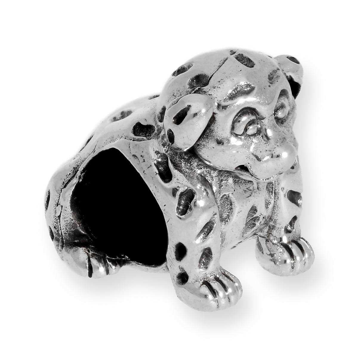 Sterling Silver Dalmation Bead Charm