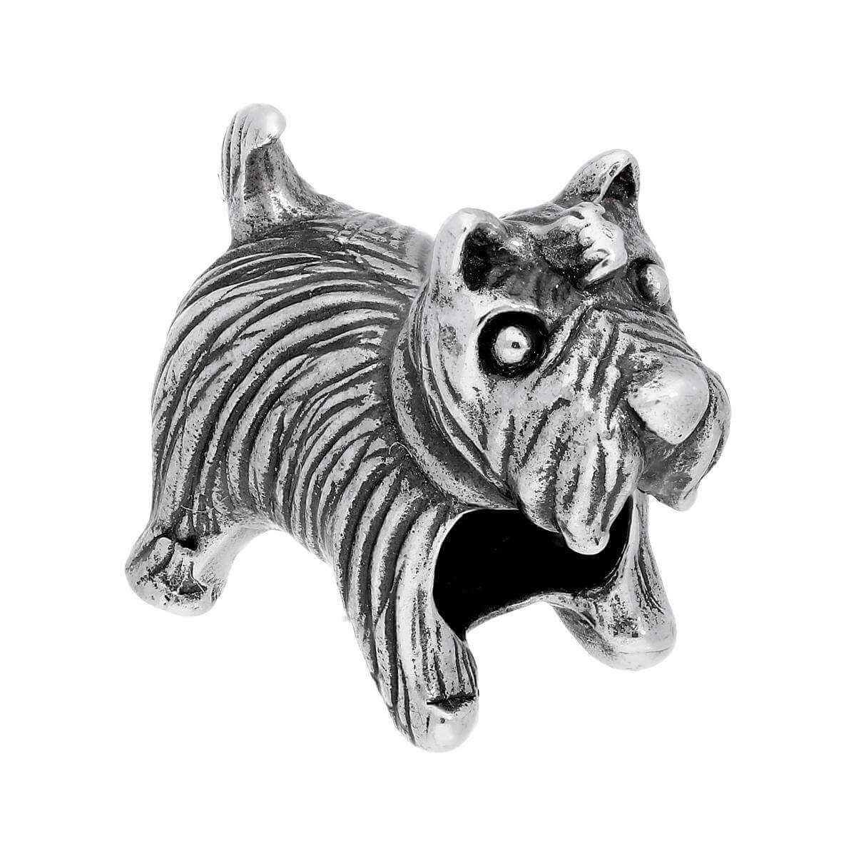 Sterling Silver Scottie Dog Bead Charm