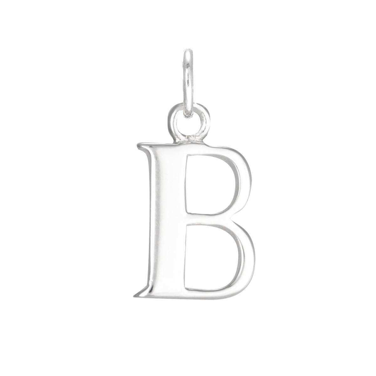 Silver Letter B: Sterling Silver Alphabet Letter B Charm