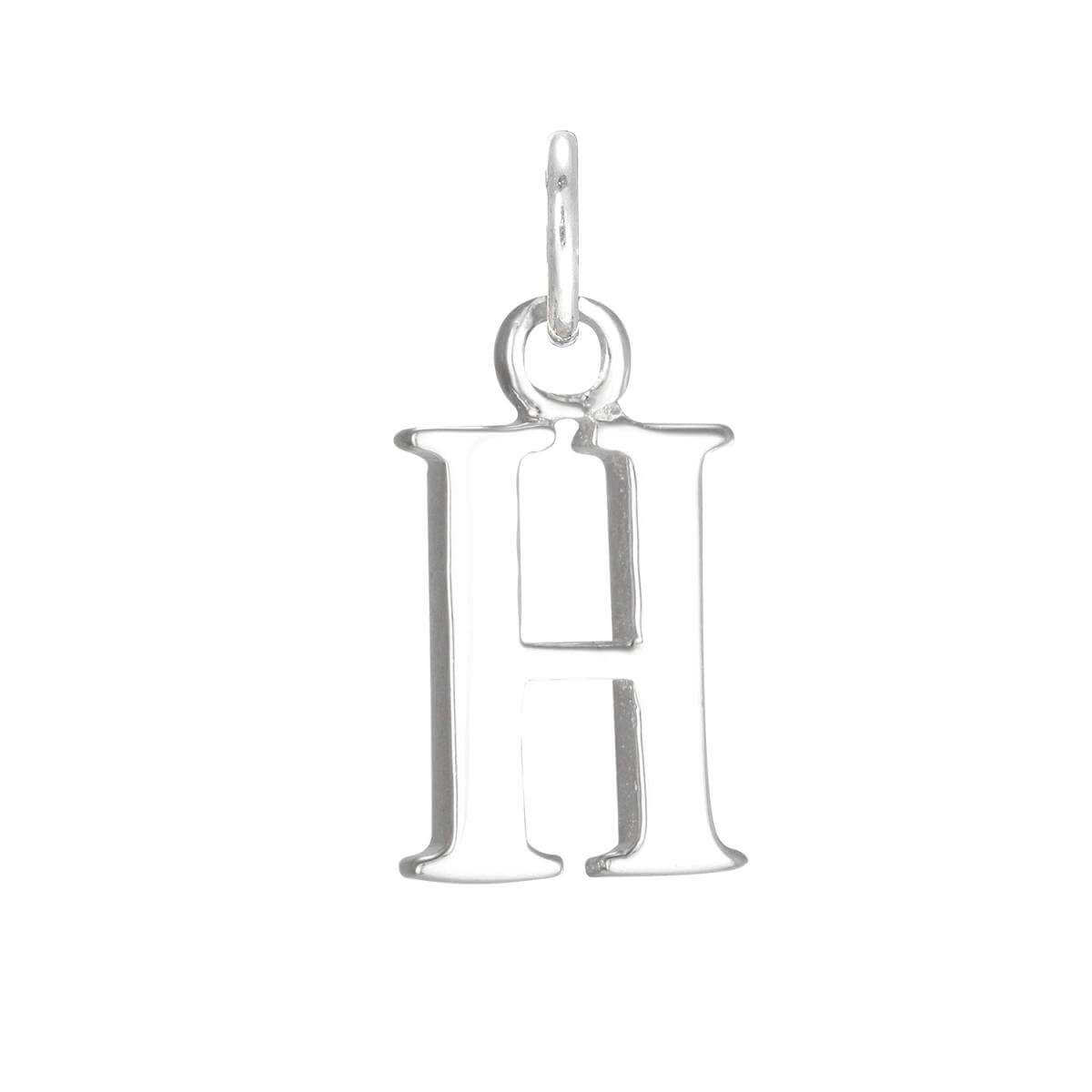 Sterling Silver Alphabet Letter H Charm