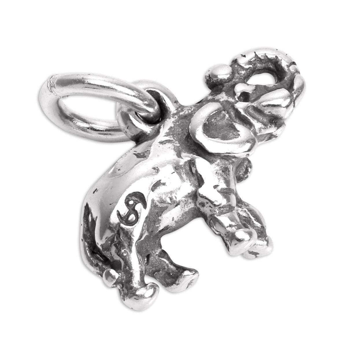 Small Sterling Silver Elephant Charm