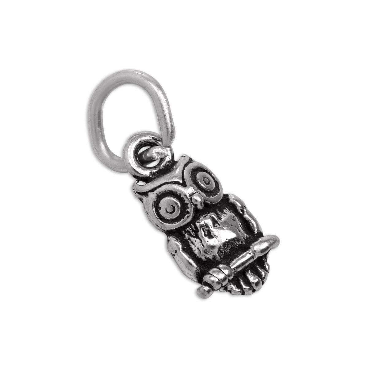 Tiny Sterling Silver Owl Charm