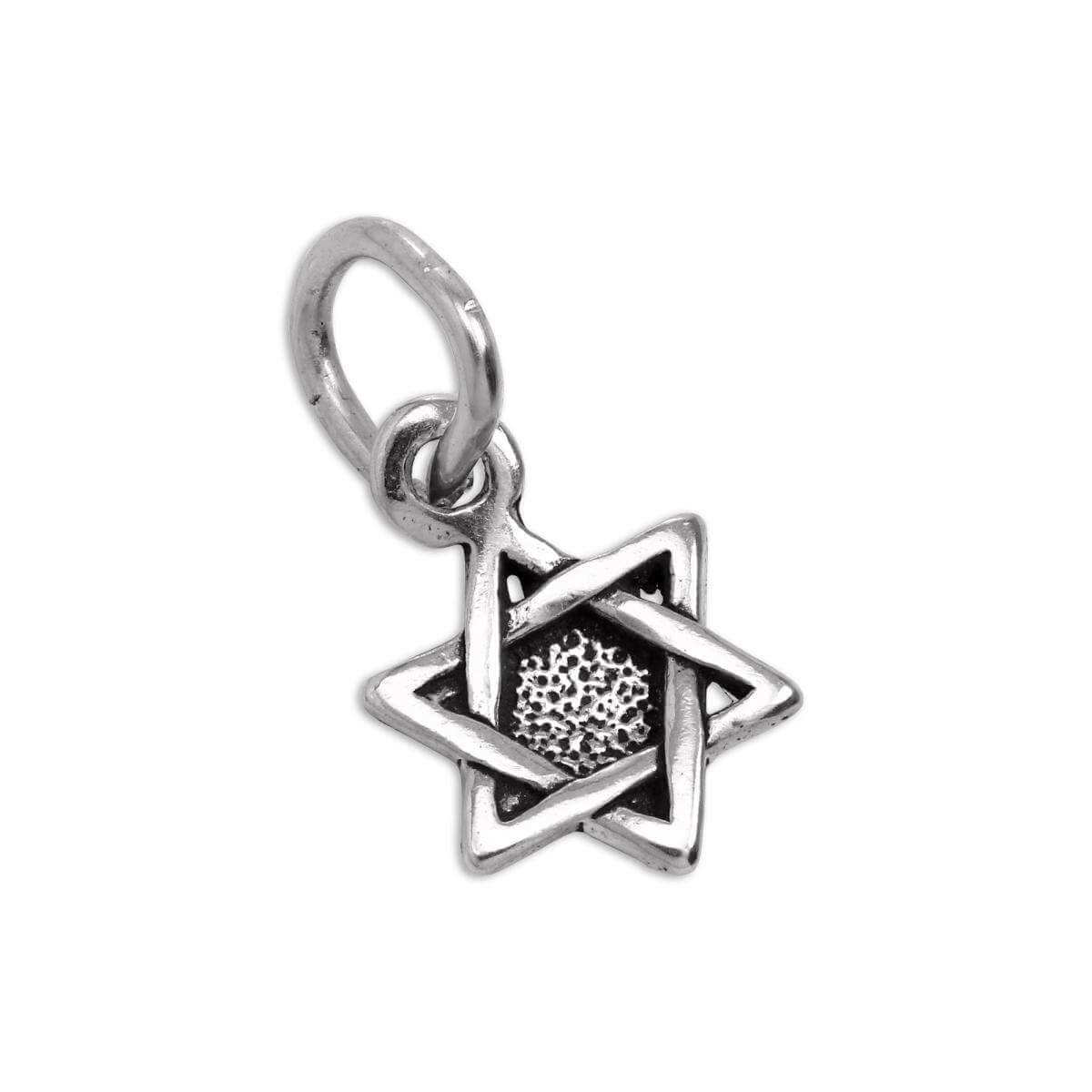 Tiny Sterling Silver Star of David Charm