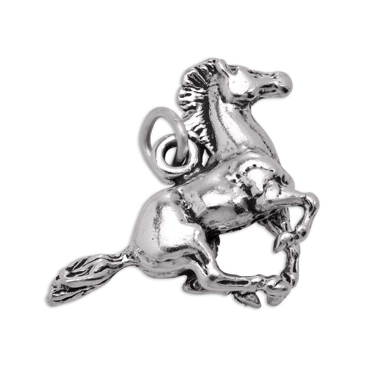 Sterling Silver 3D Galloping Horse Charm