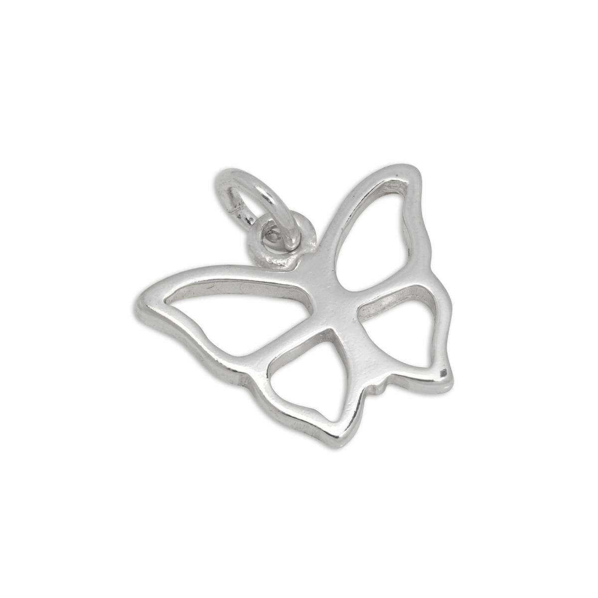 Sterling Silver Open Butterfly Outline Charm