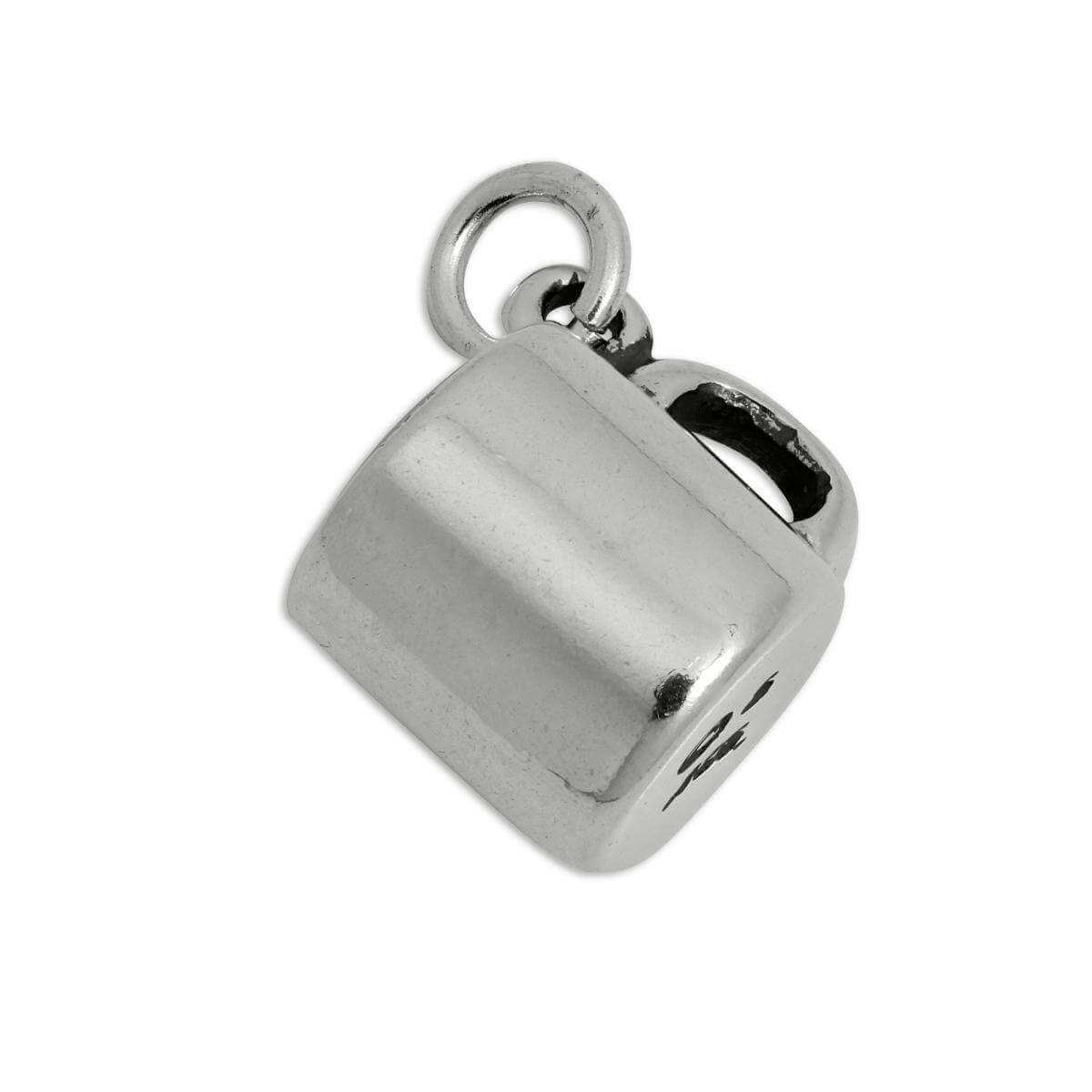 Sterling Silver 3D Coffee Mug Charm