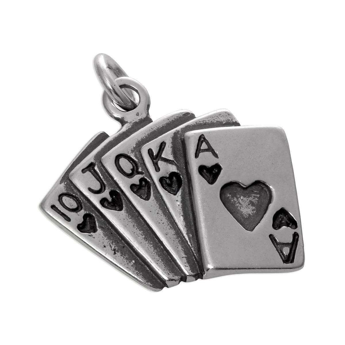Sterling Silver Playing Cards Charms