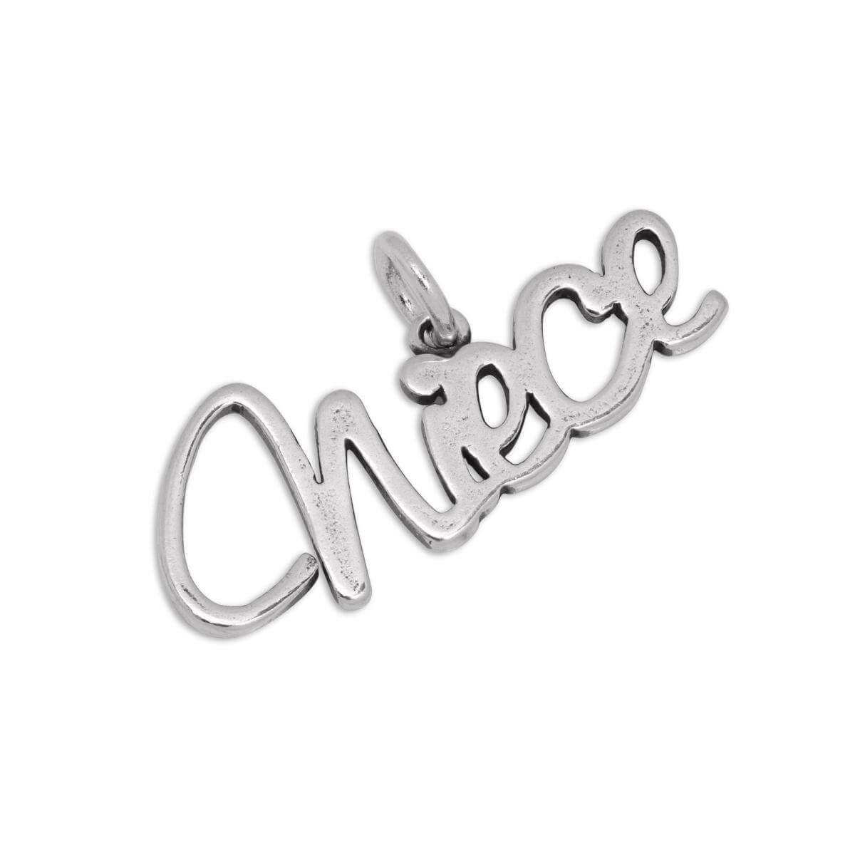 Sterling Silver Niece Charm