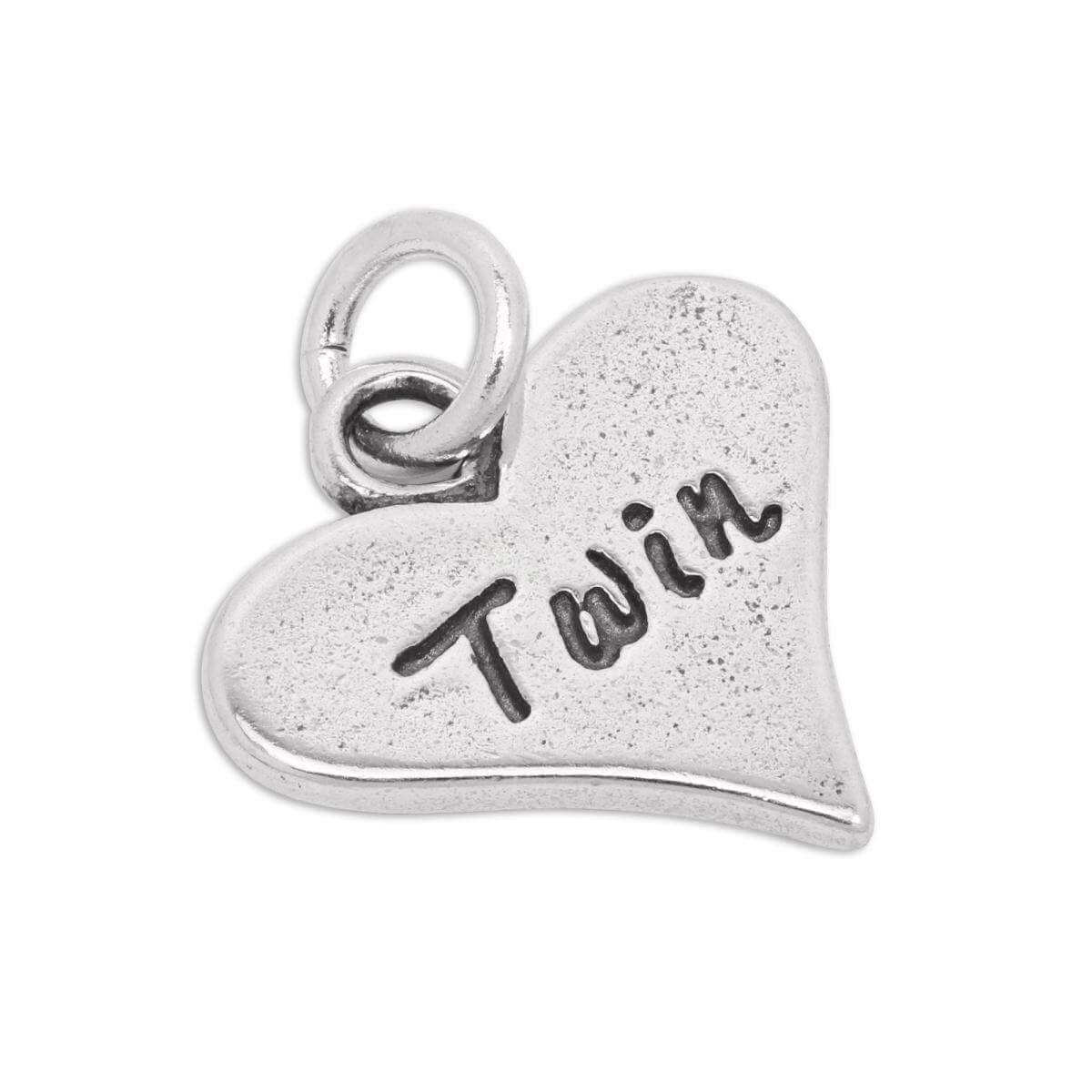 Sterling Silver Twin Heart Charm
