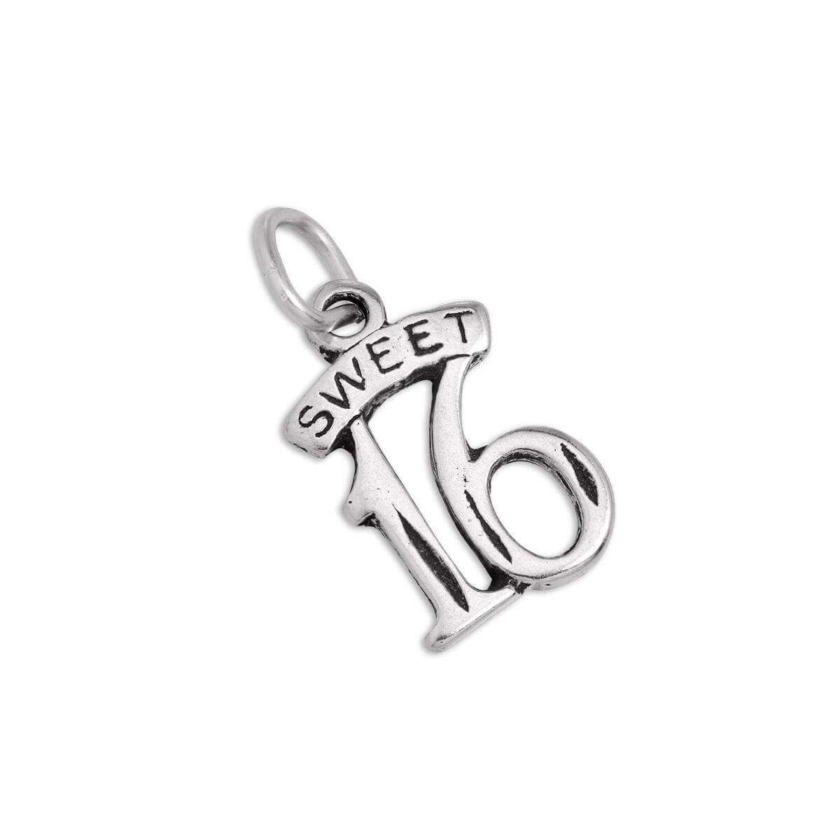 Sterling Silver Sweet 16 Birthday Charm