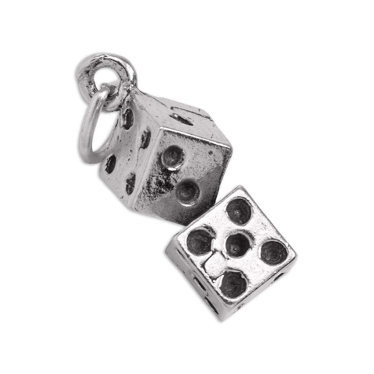 Sterling Silver Pair of Dice Charm