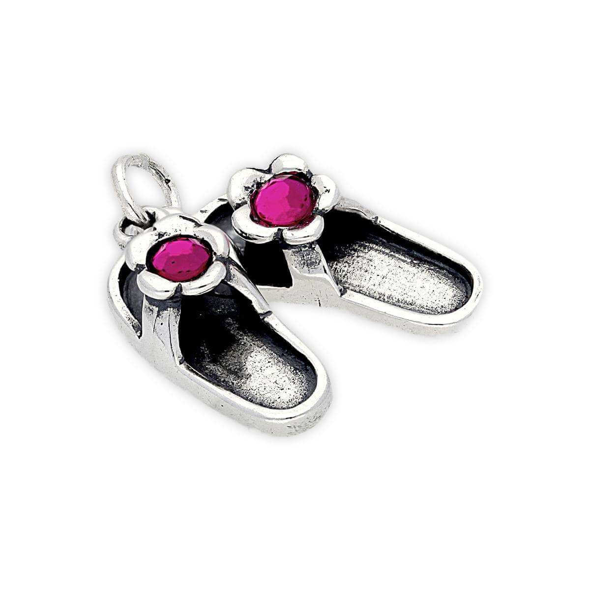 Sterling Silver Pair of Flip Flops Charm