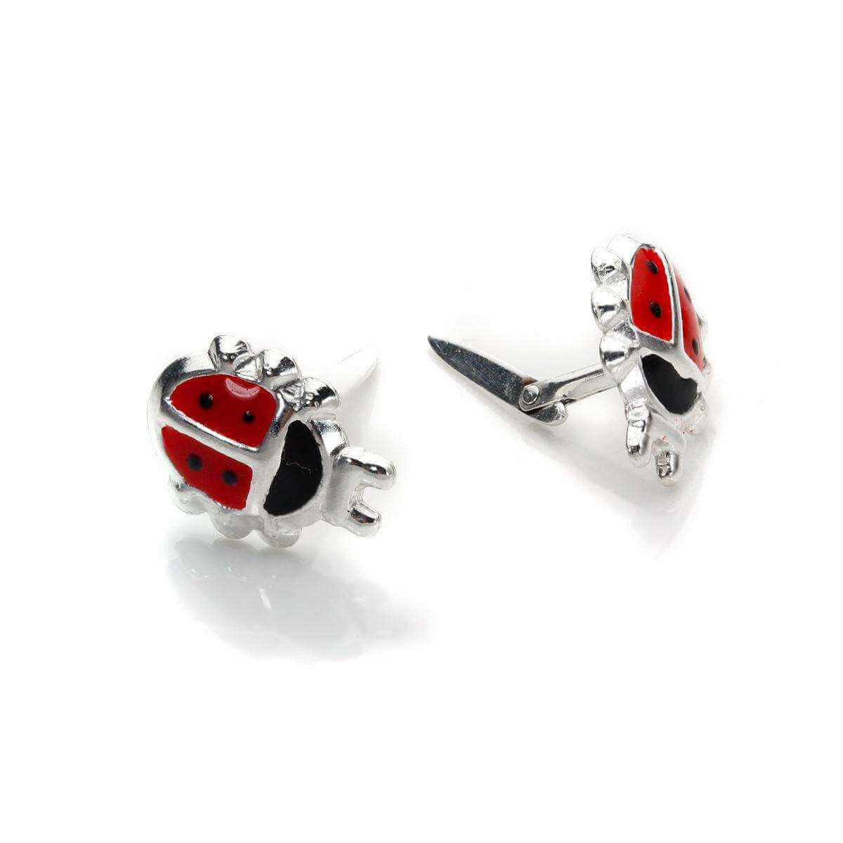 Sterling Silver Andralok Ladybird Earrings