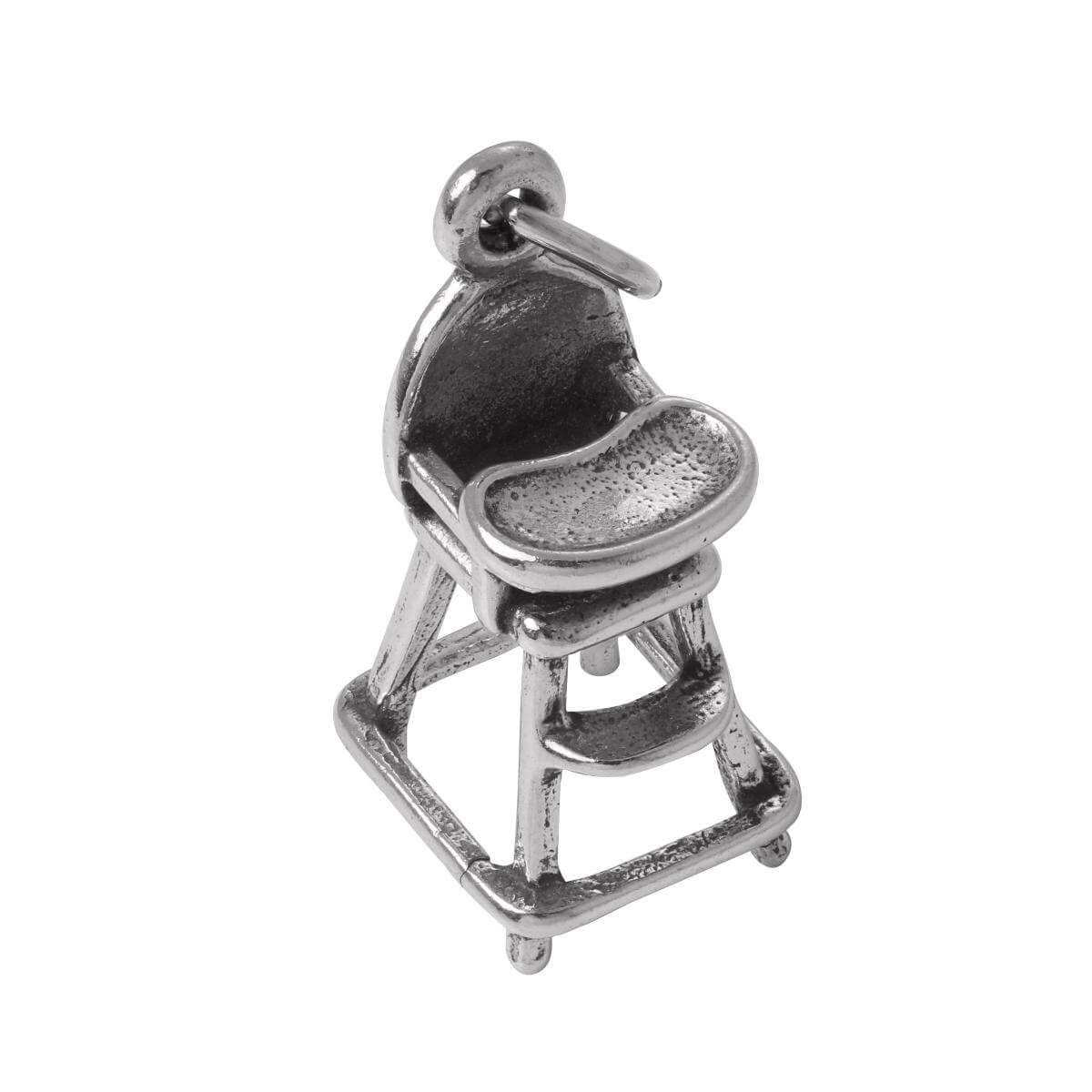 Sterling Silver Babies High Chair Charm