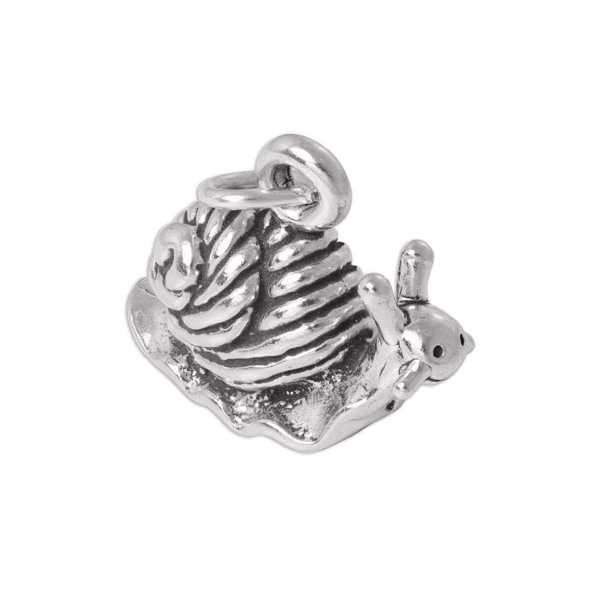Sterling Silver 3D Snail Charm