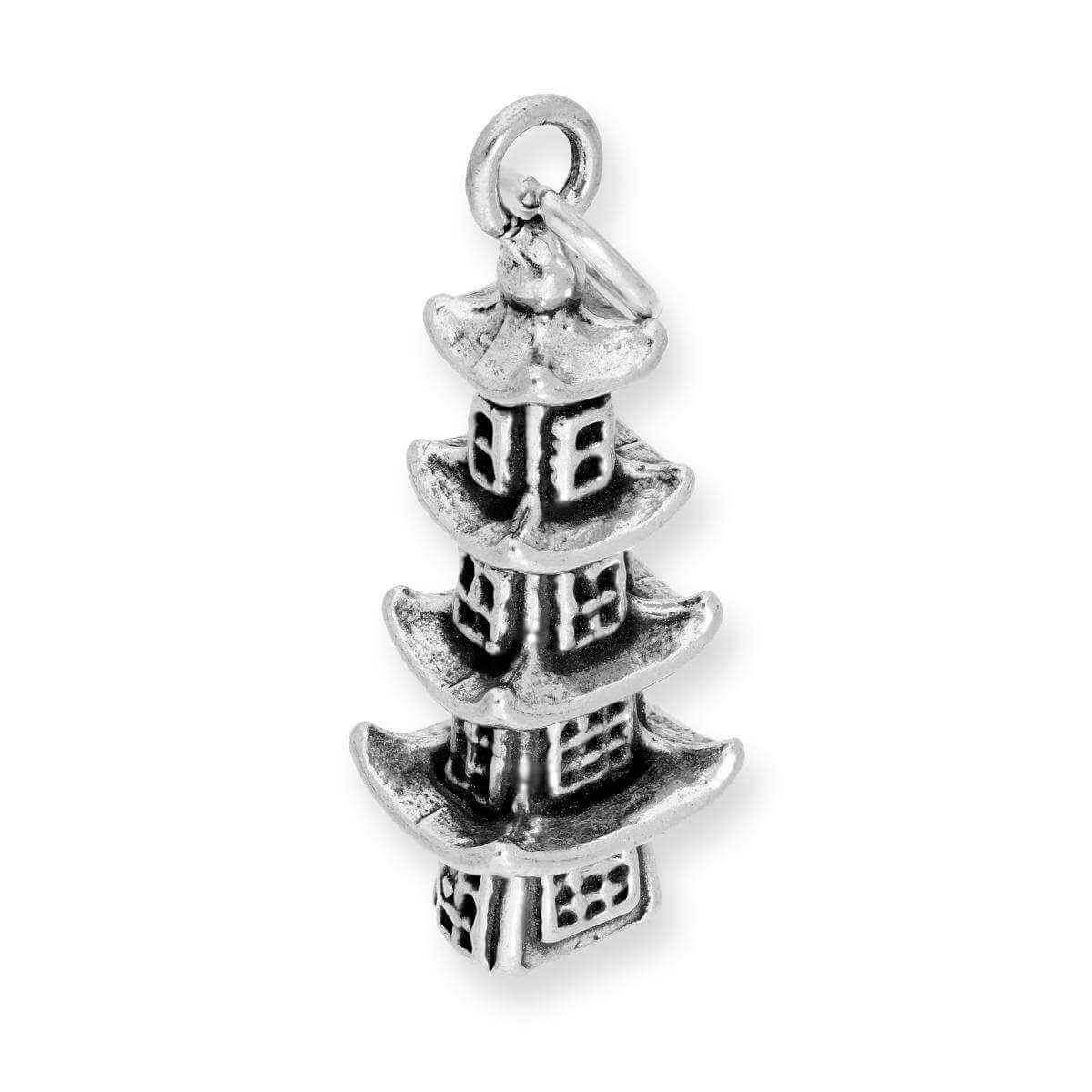 Sterling Silver Pagoda Charm