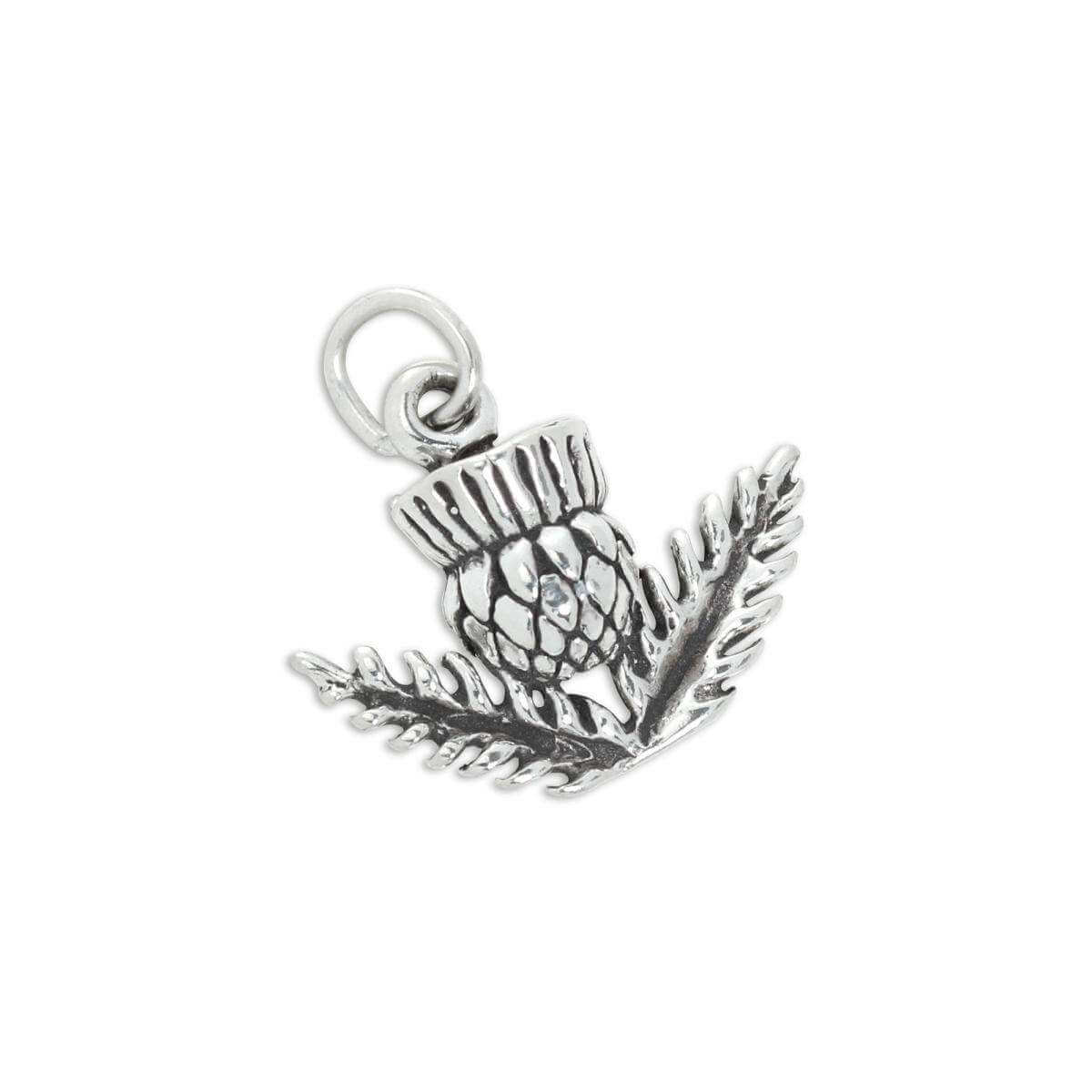 Sterling Silver 3D Thistle Charm