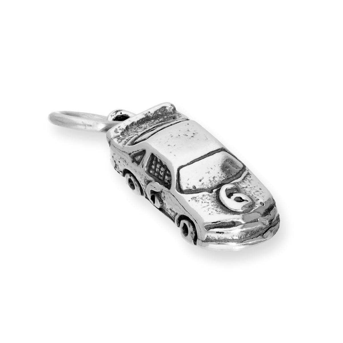 Sterling Silver Race Car Charm