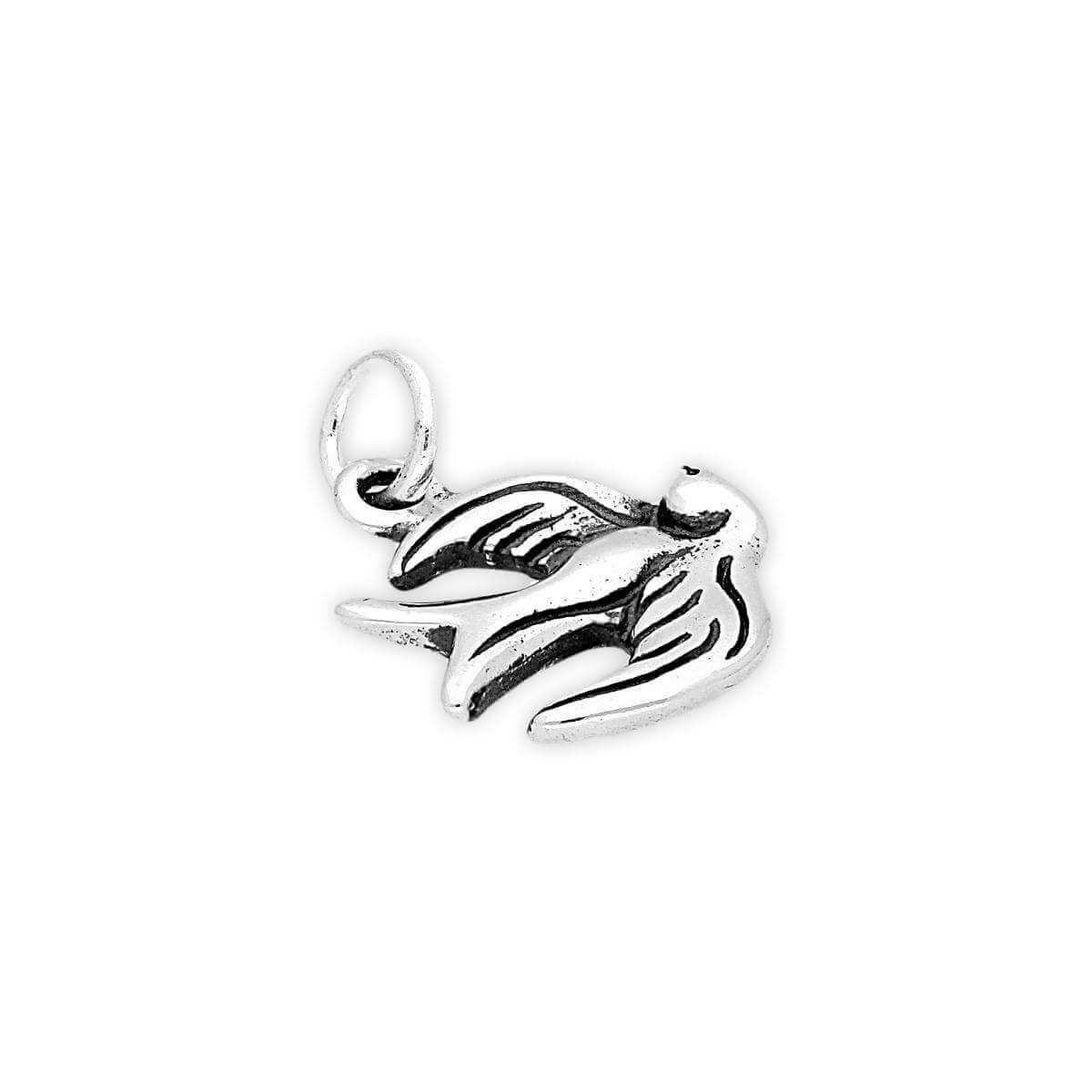 Sterling Silver Sparrow Charm