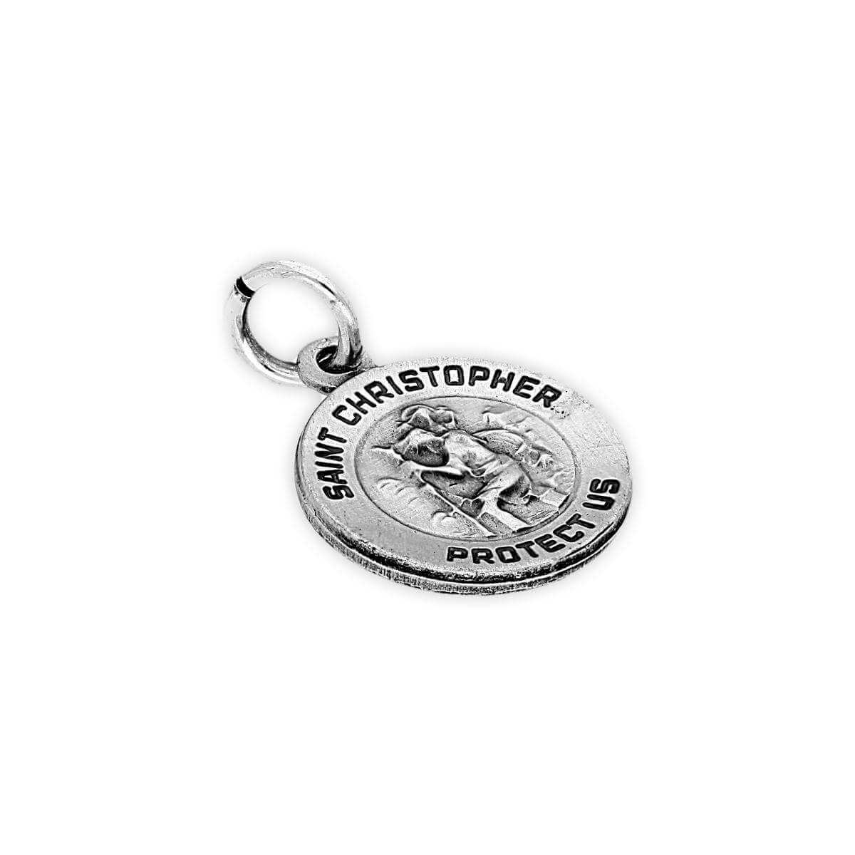 Sterling Silver St Christopher's Medal Charm