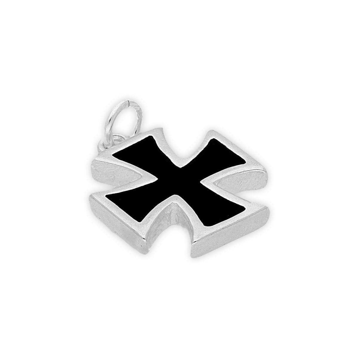 Sterling Silver Maltese Cross Charm