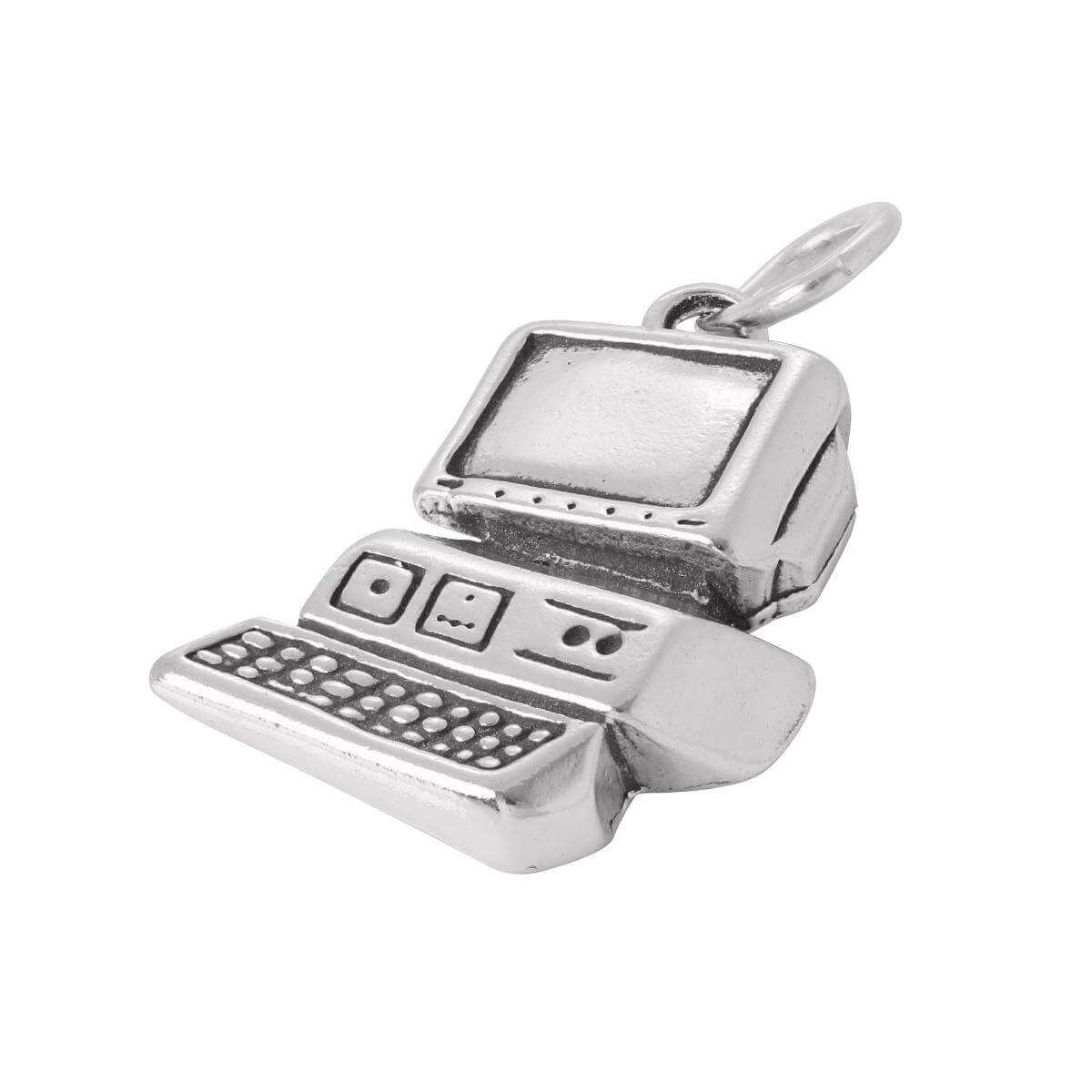 Sterling Silver Computer Charm