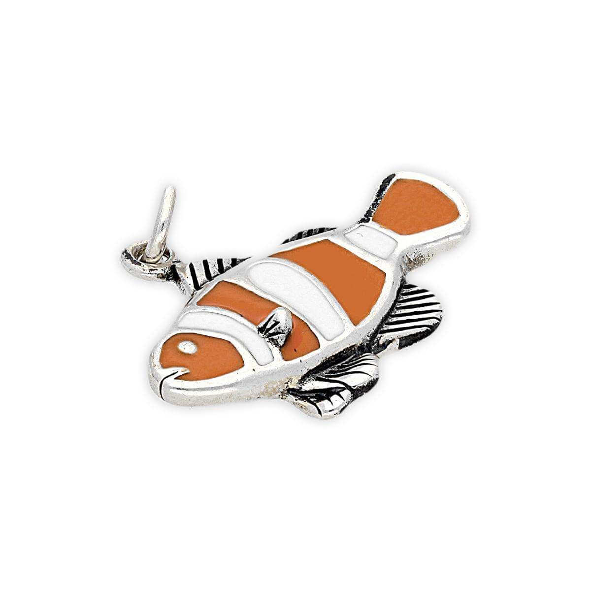Sterling Silver and Enamel Clown Fish Charm