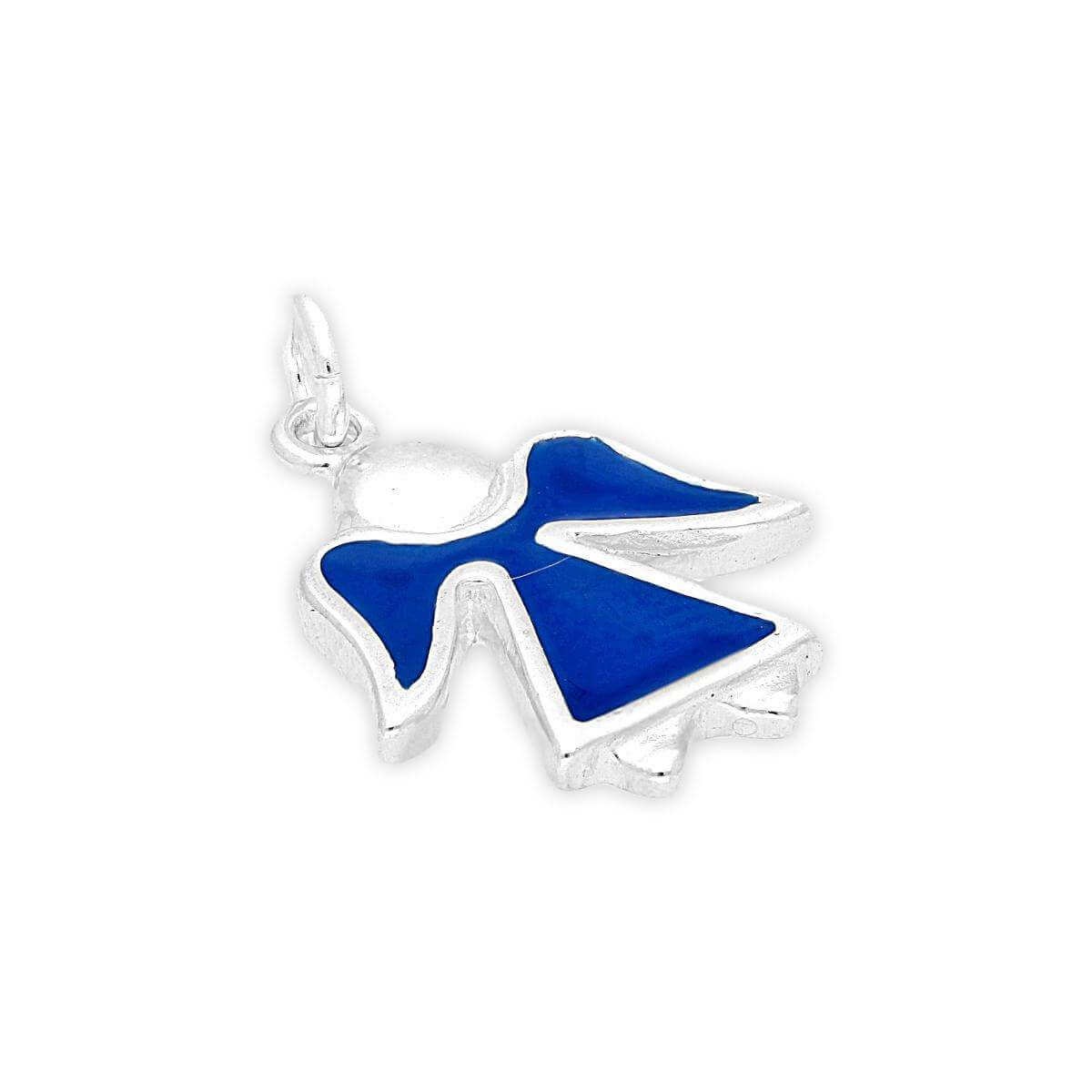 Sterling Silver Enamelled Angel Charm