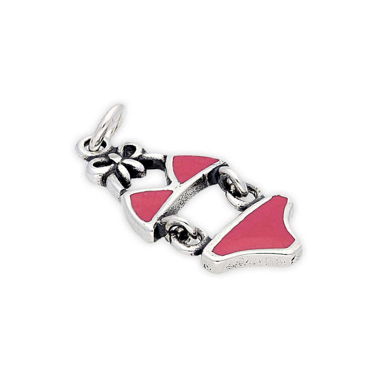 Sterling Silver and Enamel Bikini Charm