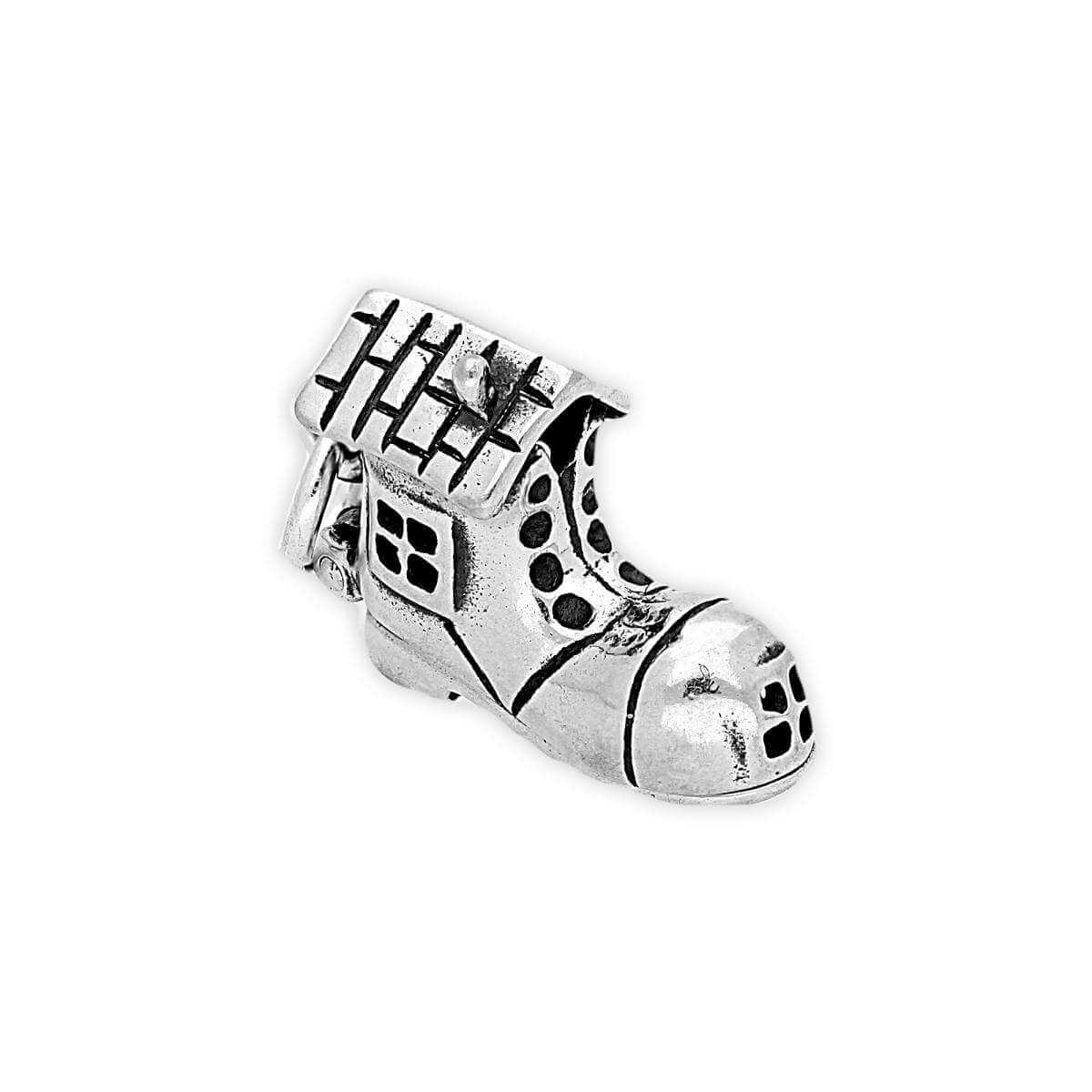 Sterling Silver Old Lady in Shoe Charm