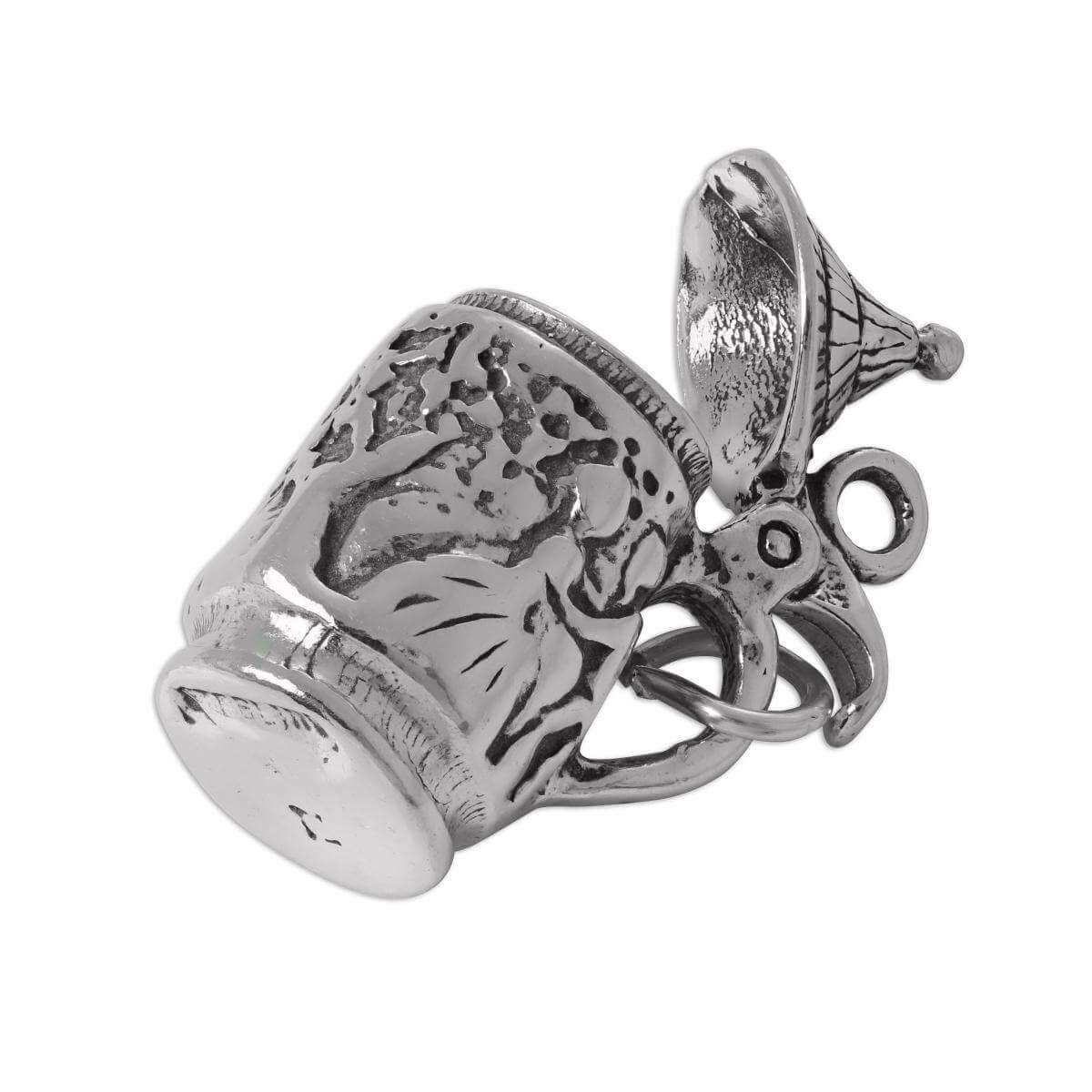 Sterling Silver 3D Moveable Beer Stein Charm