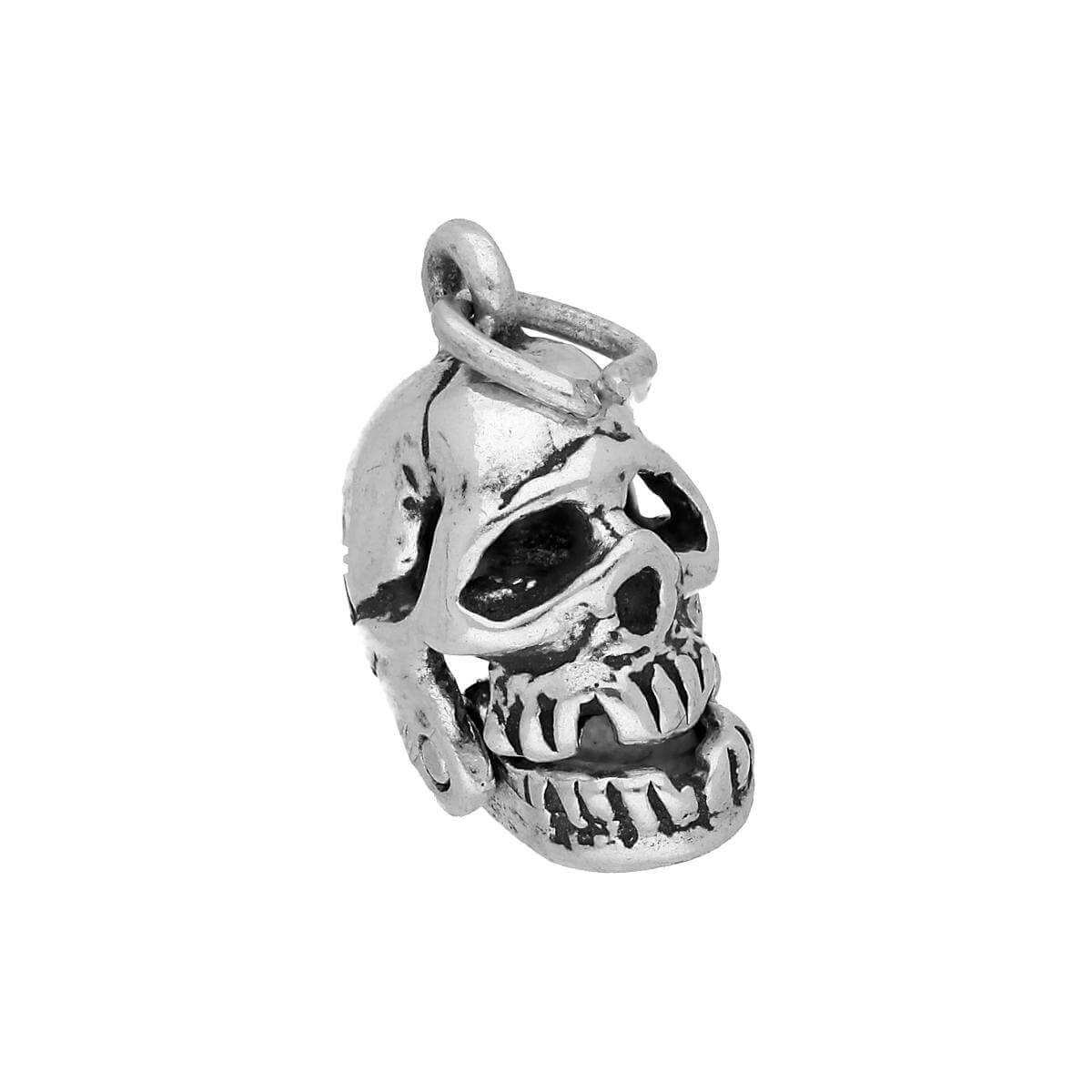 Sterling Silver Skull With Moveable Jaw Charm