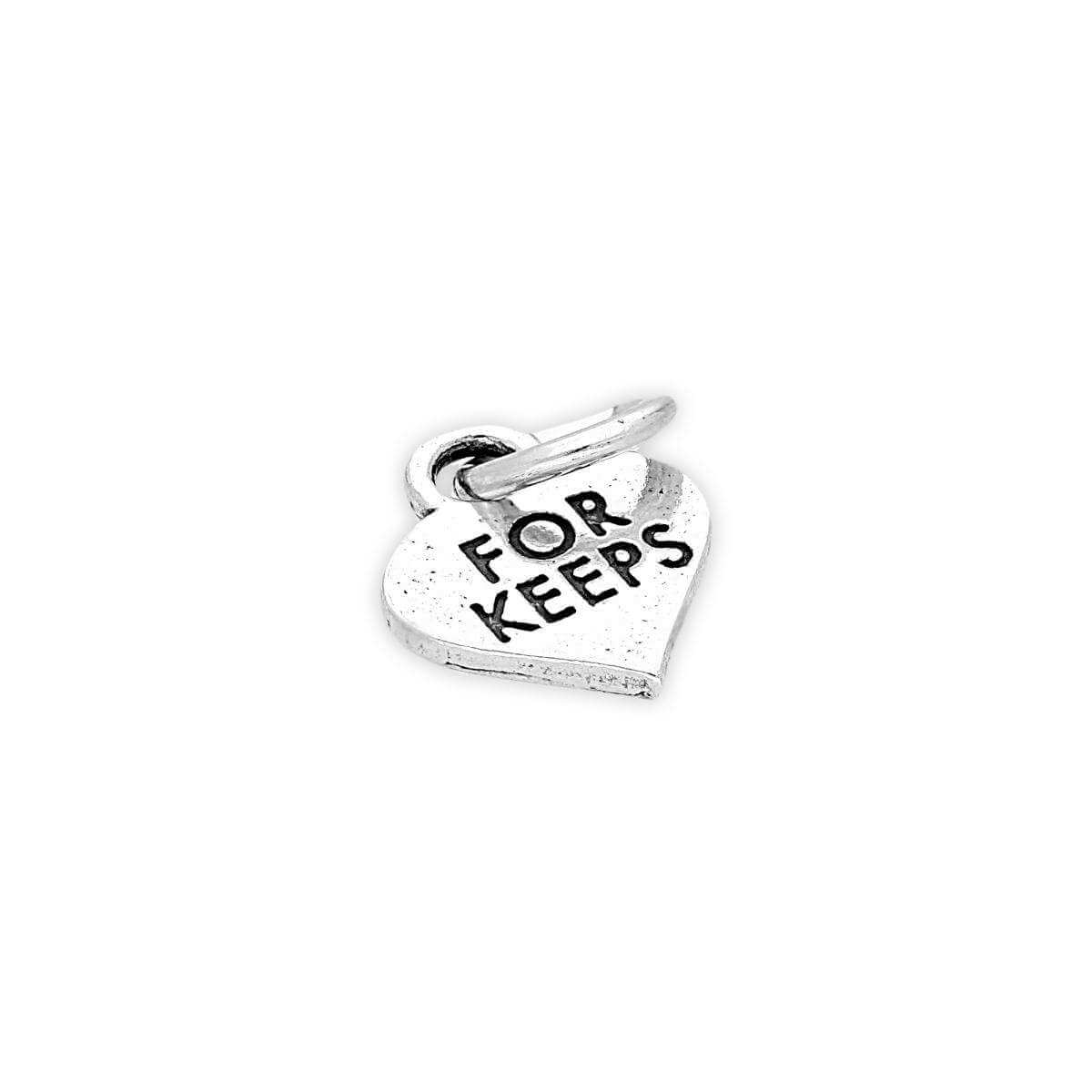 Sterling Silver For Keeps Heart Charm