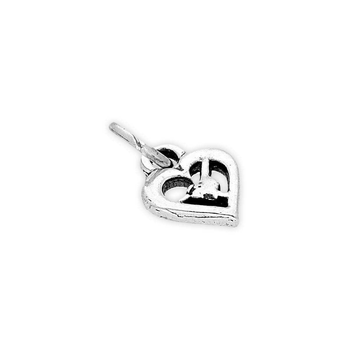 Sterling Silver Heart in a Heart Charm