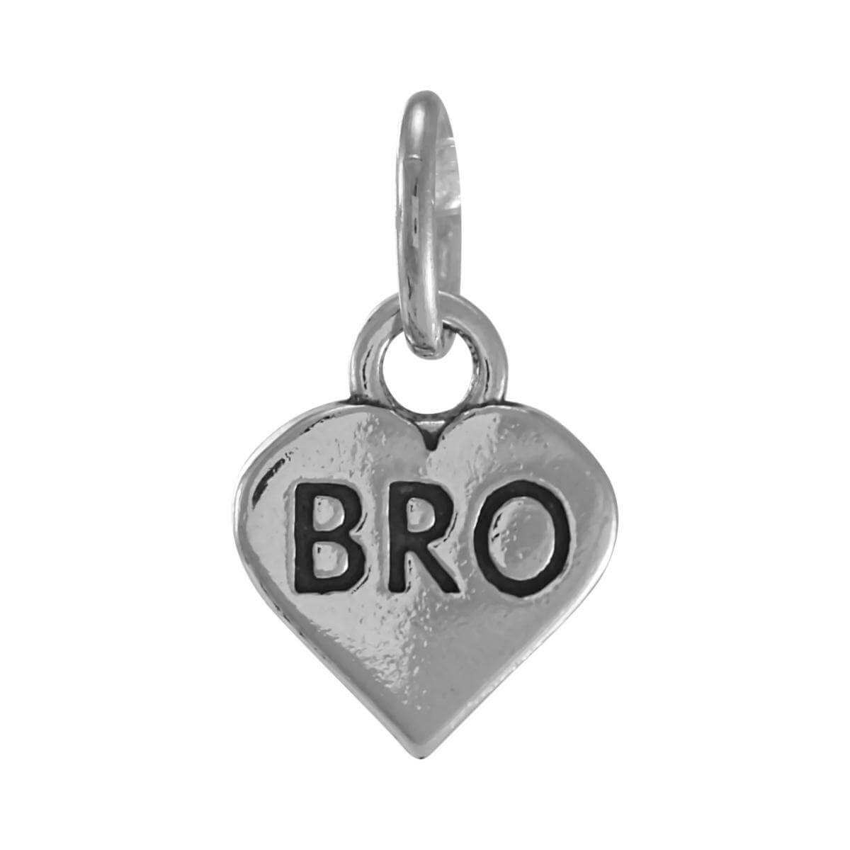 Sterling Silver Bro Heart Charm