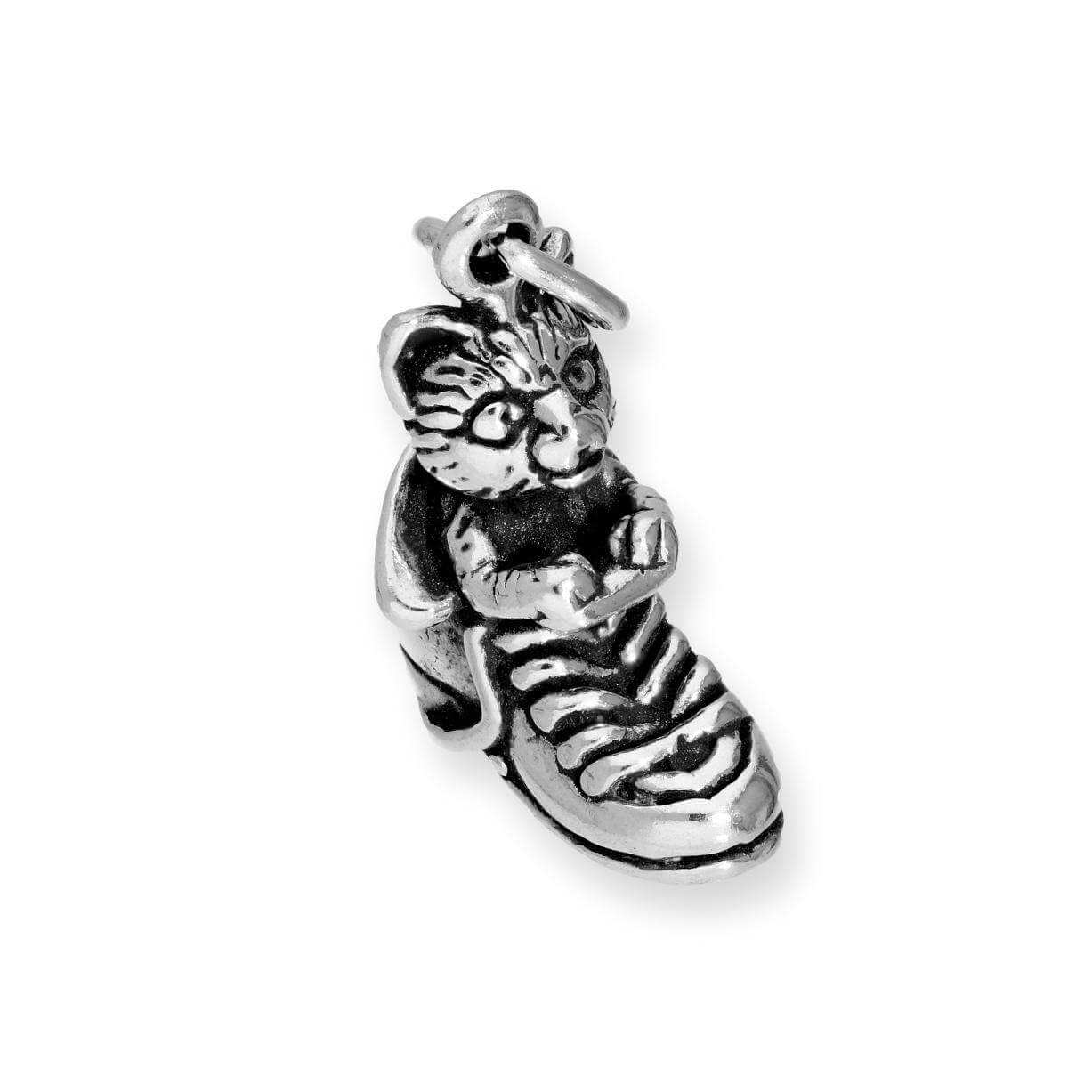 Sterling Silver Puss in Boots Cat Charm