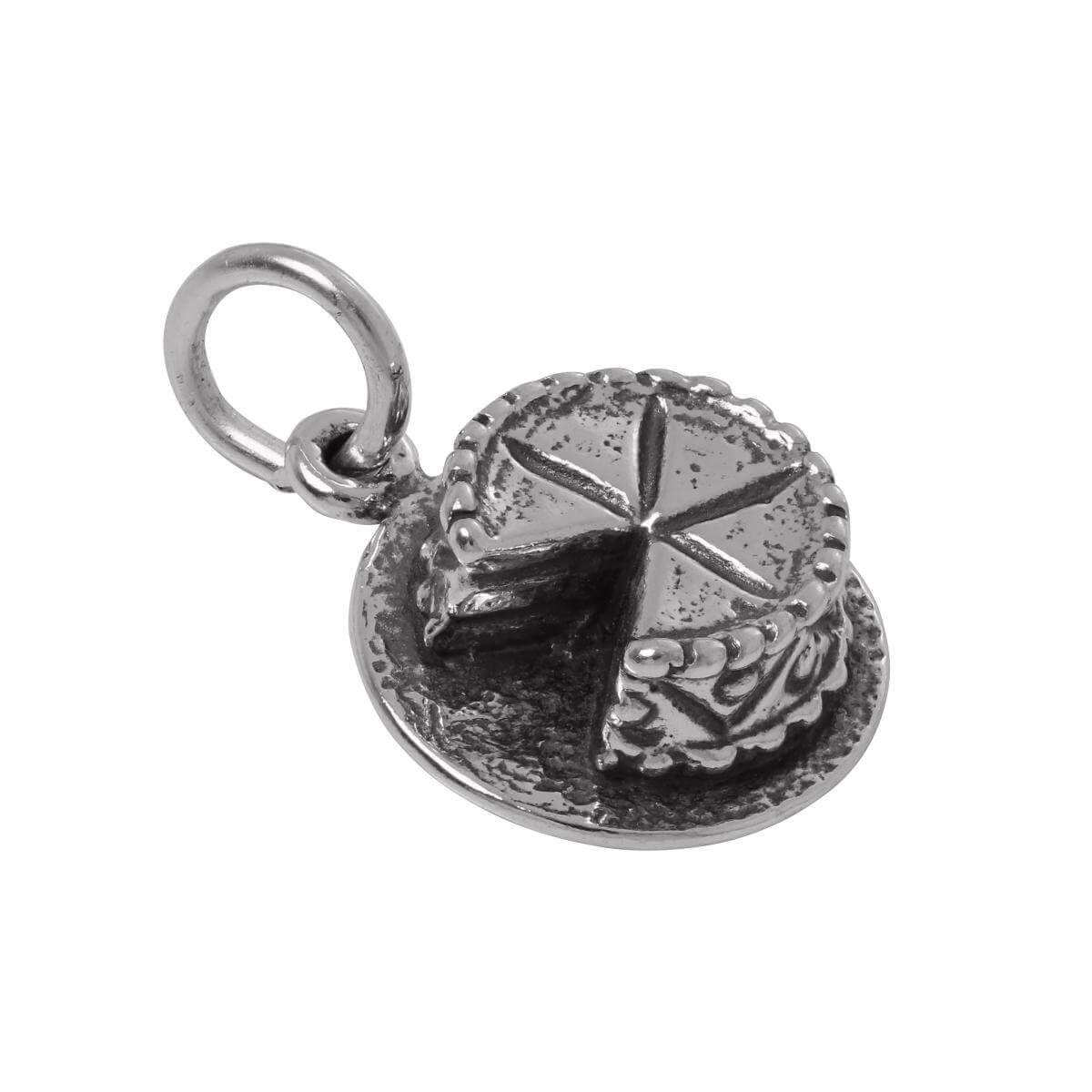 Sterling Silver 3D Cake Charm