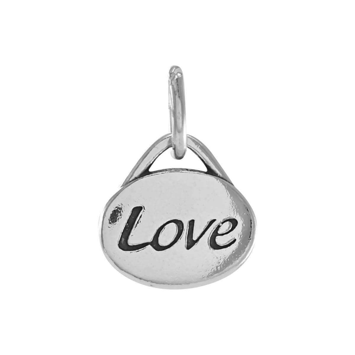 Sterling Silver Oval Love Charm