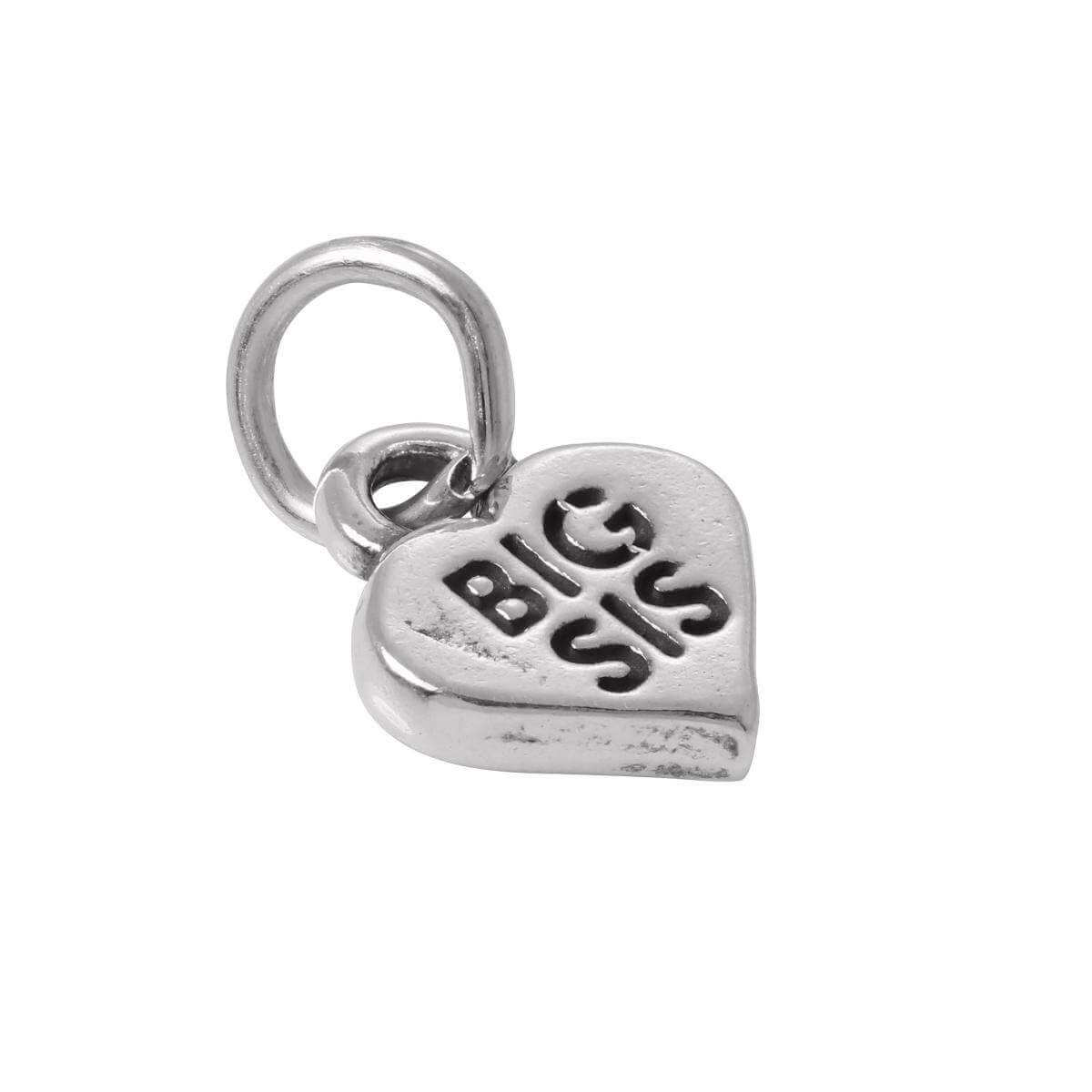 Sterling Silver Big Sis in Heart Charm