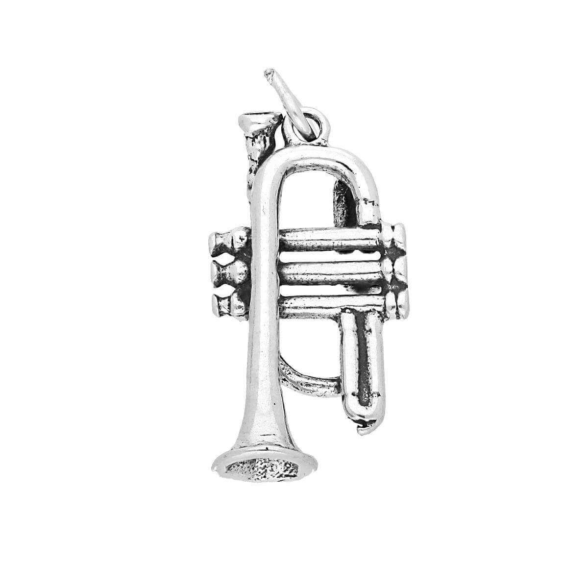 Sterling Silver Trumpet Charm