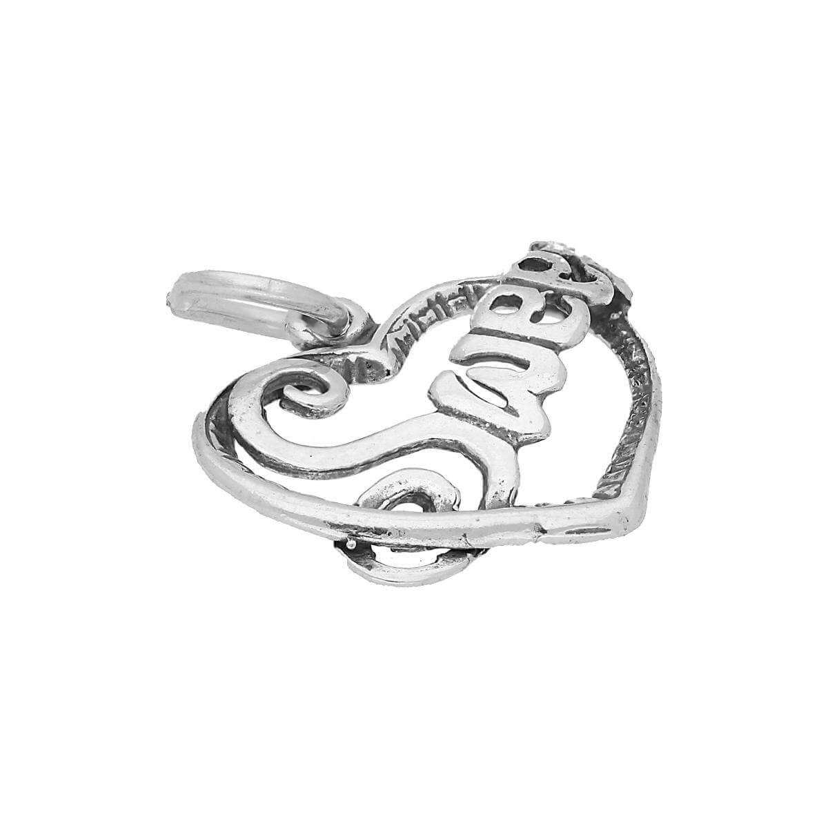 Sterling Silver Sweet Heart Charm